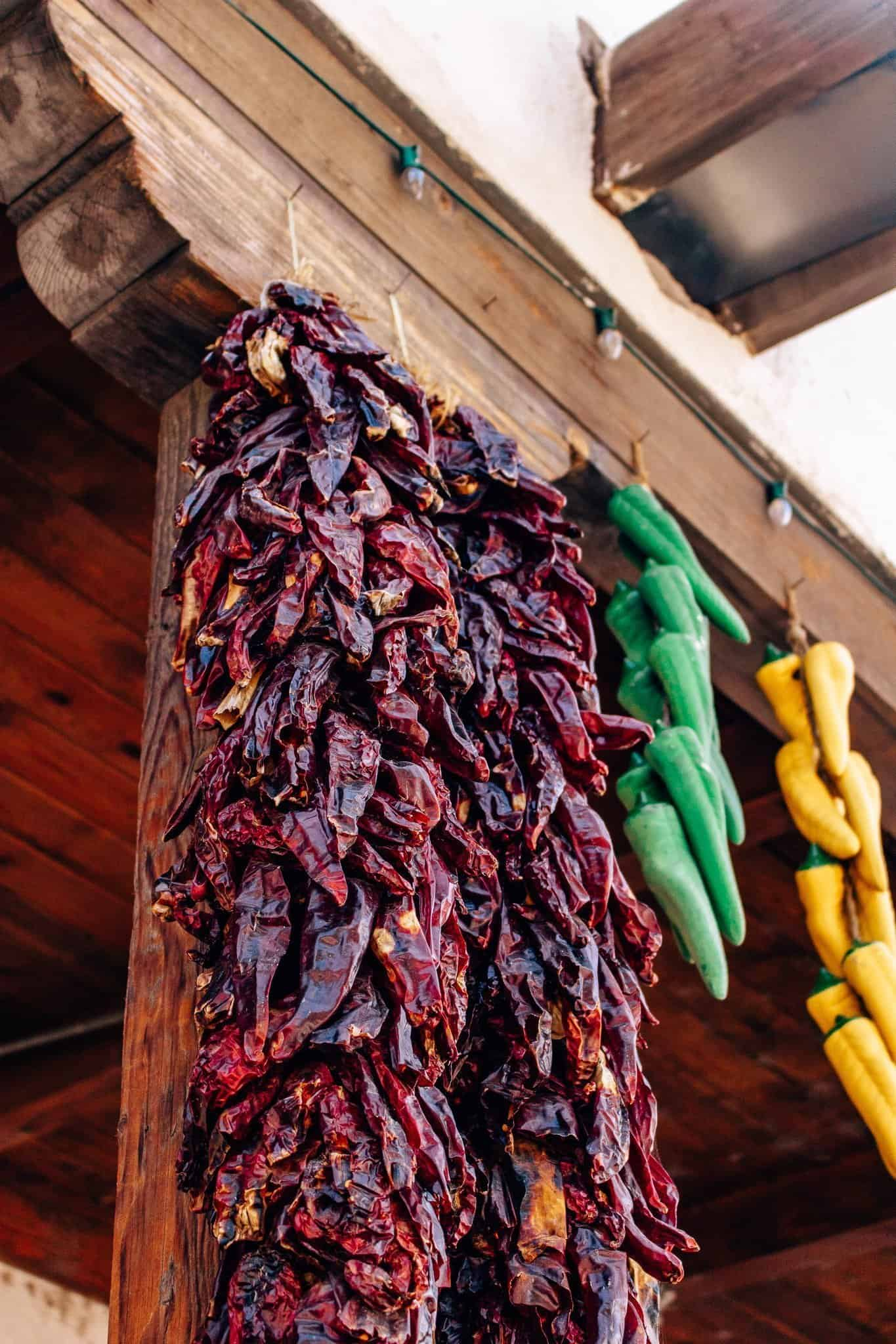 Drying Chiles in Albuquerque Old Town - The Next Trip