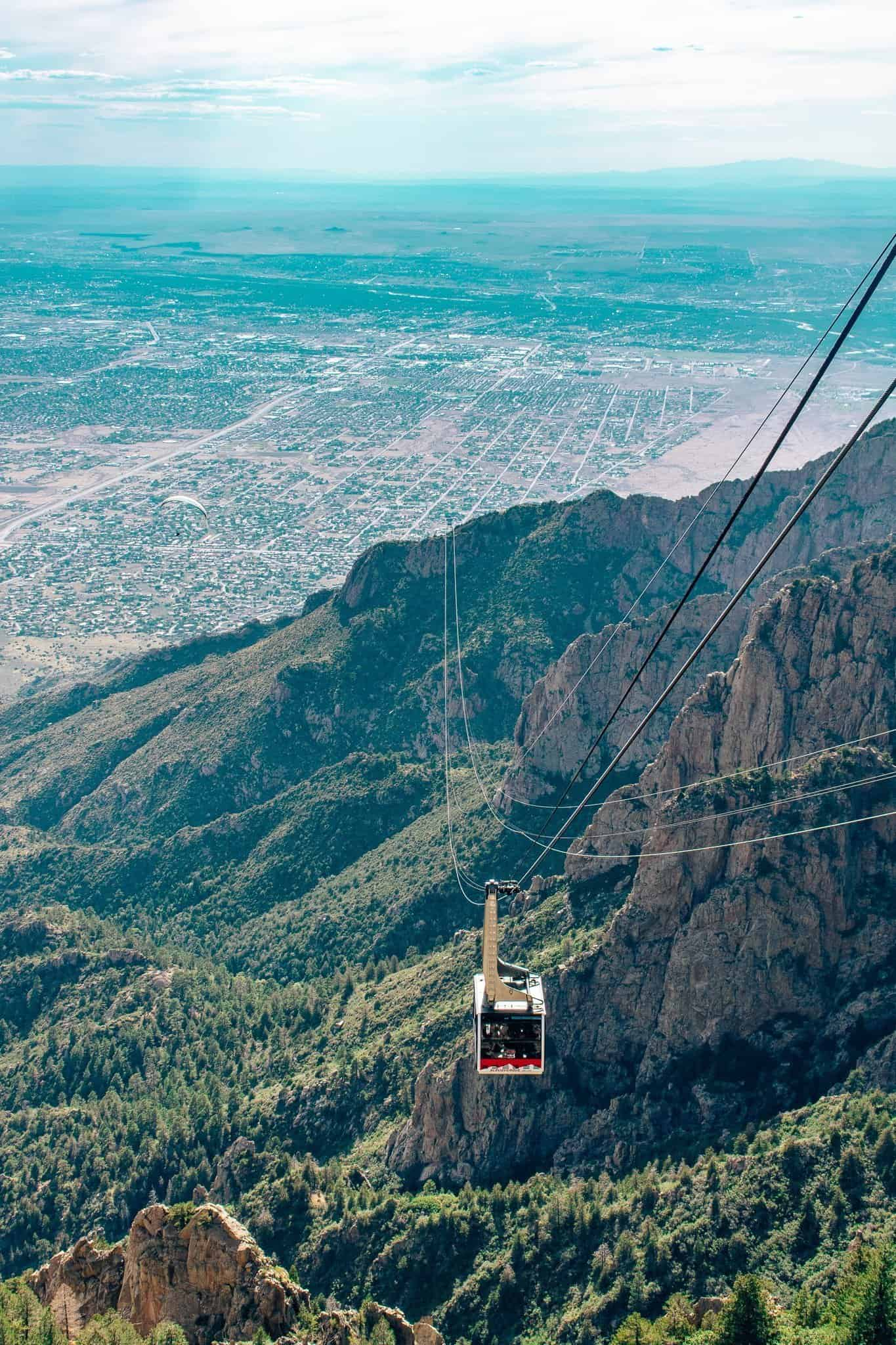 View of Sandia Peak Tramway - The Next Trip