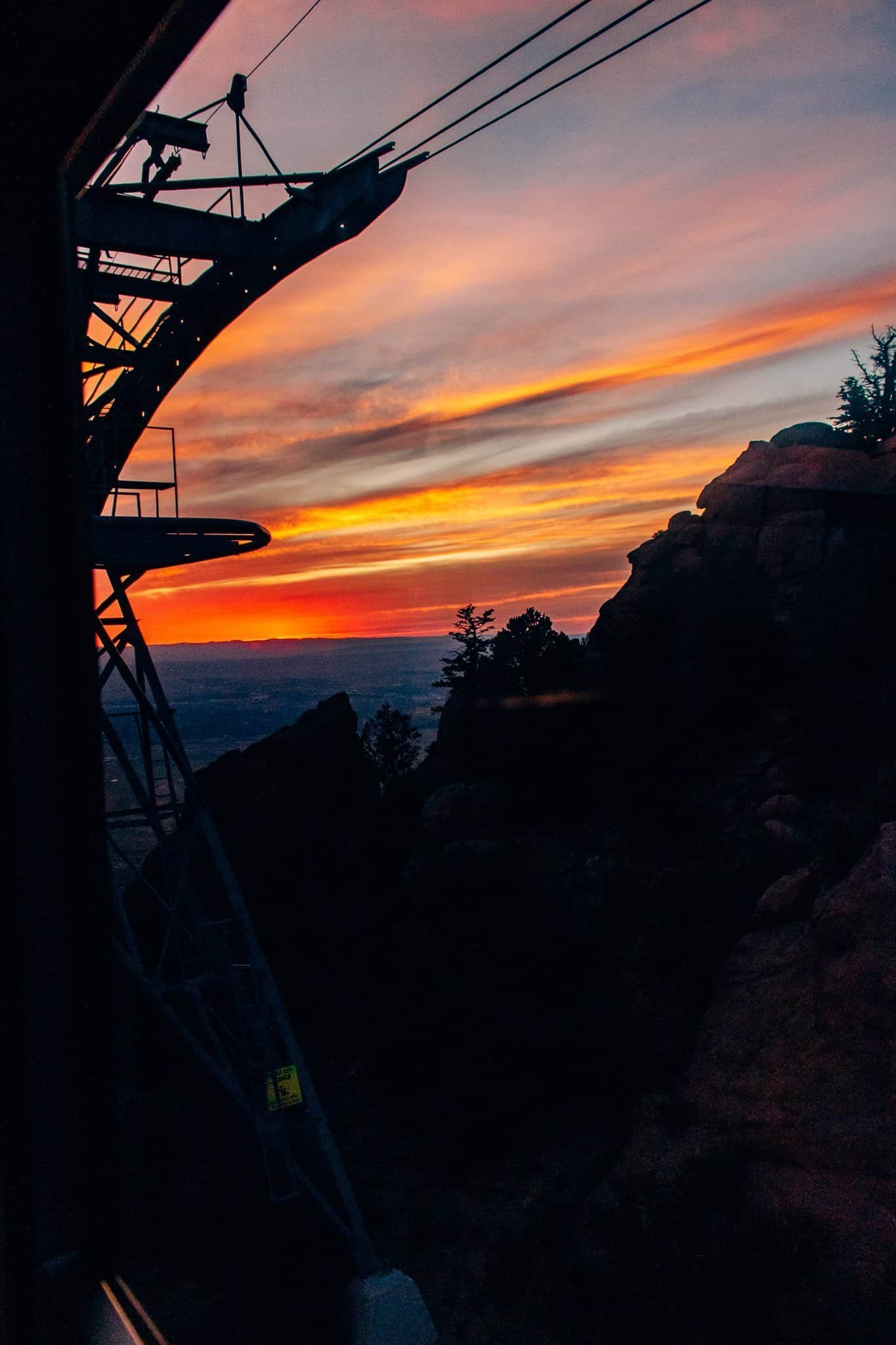 Sunset from Sandia Peak Tramway - The Next Trip