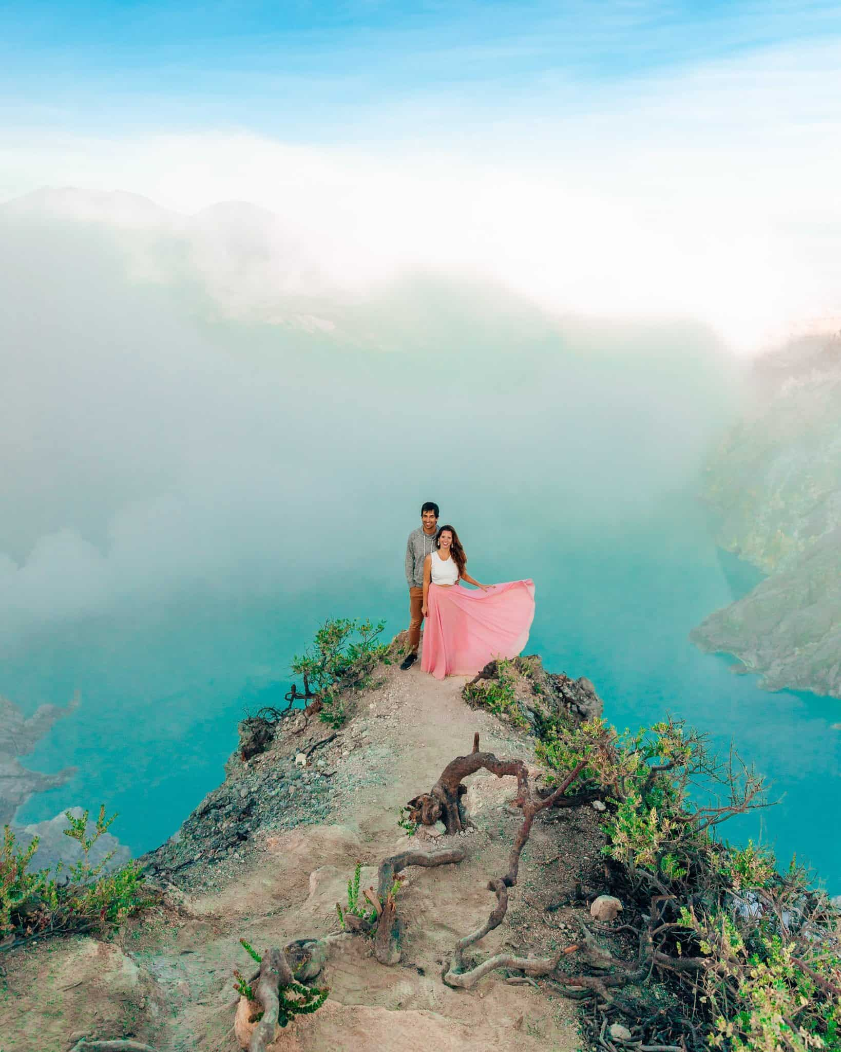 View of the Crater Lake on Mount Ijen, East Java - The Next Trip