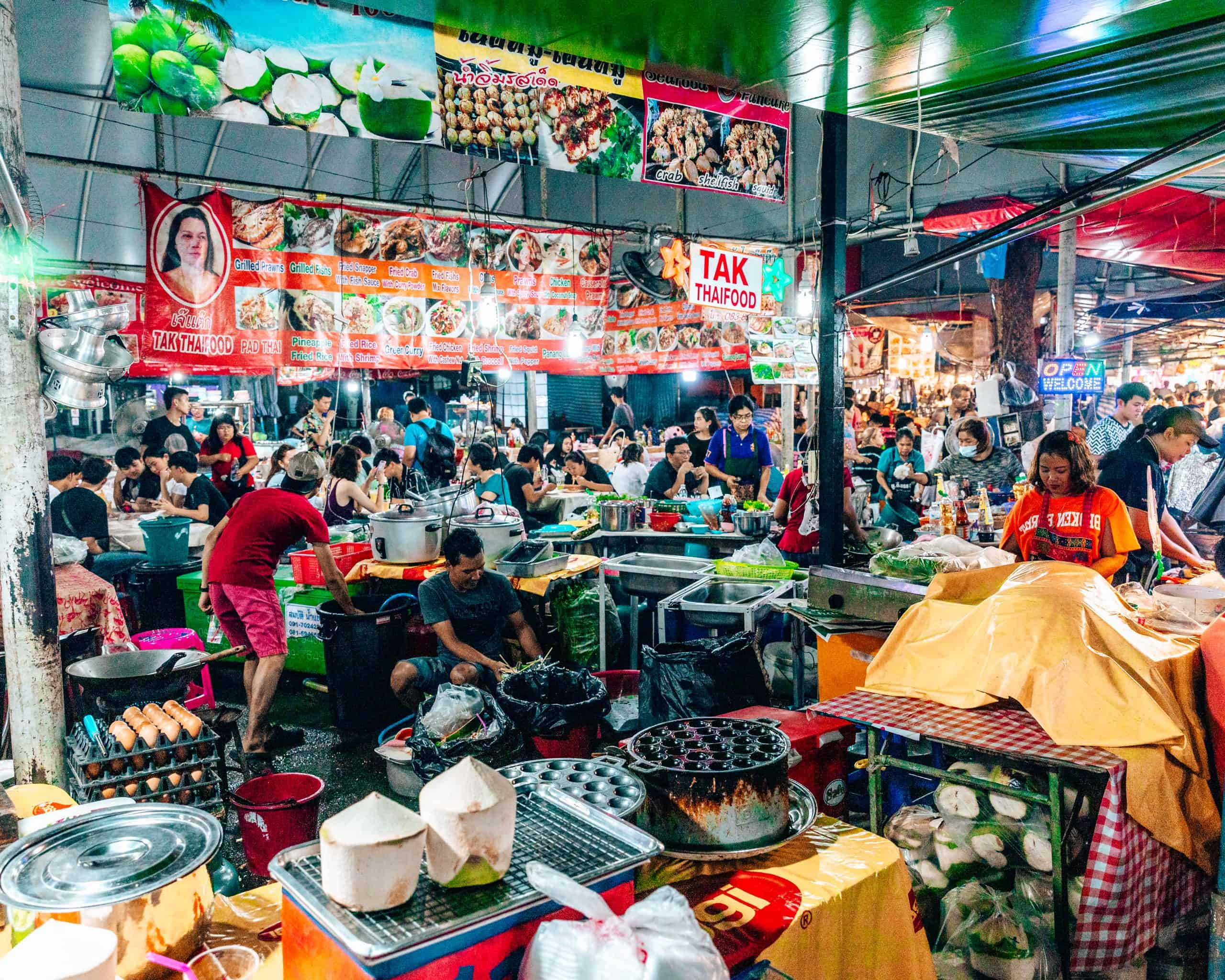 Food court at Chatachuk Weekend Market - The Next Trip