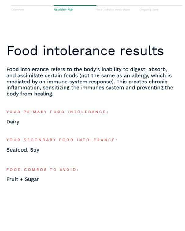Bettina's Food Intolerance Results Dairy, Seafood and Soy - The Next Trip