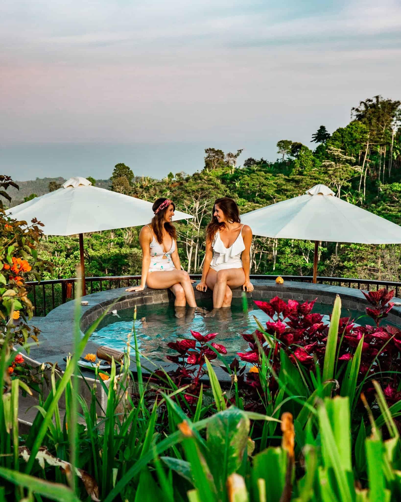 Jacuzzi at Munduk Moding Plantation Bali - The Next Trip