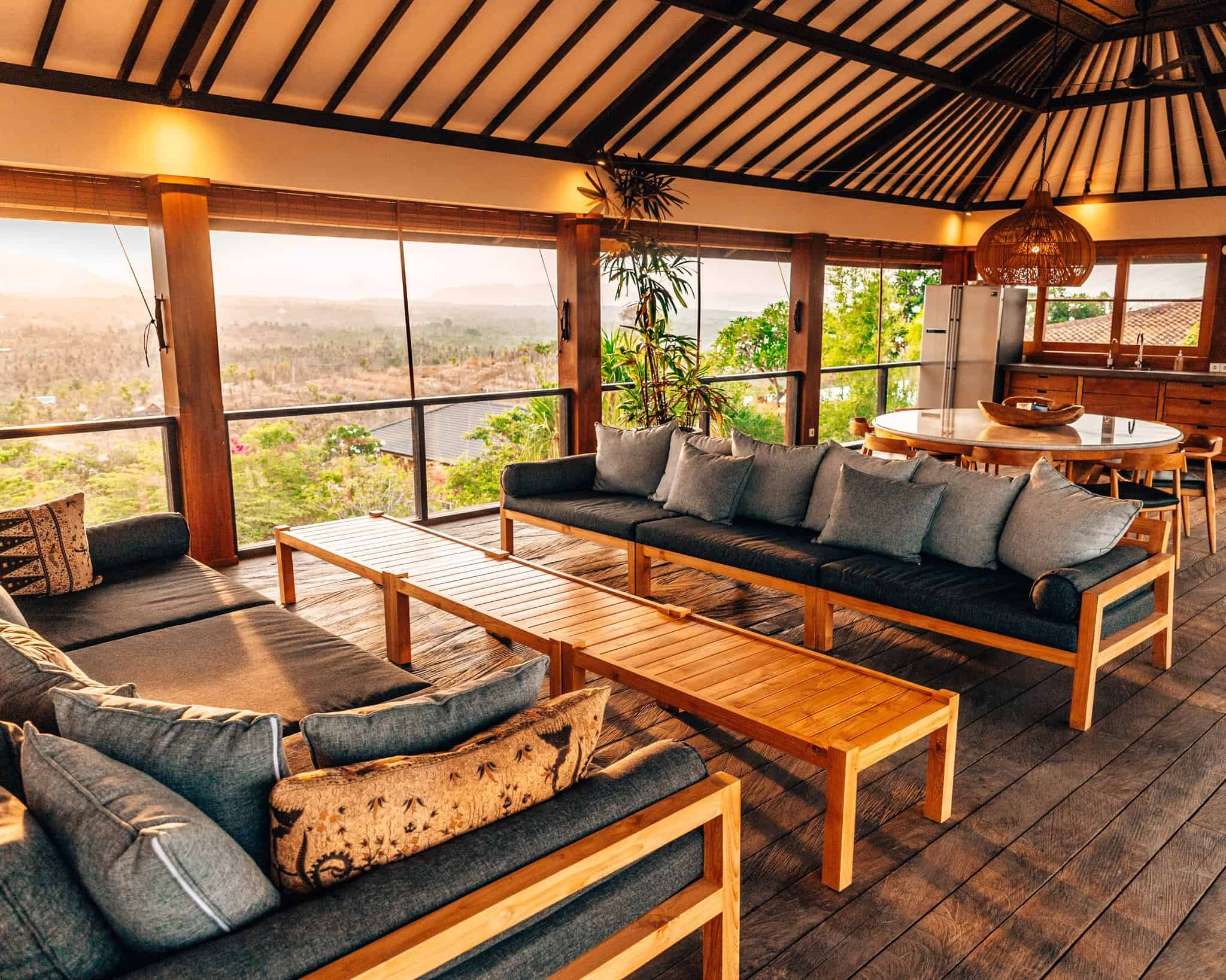 Living Room at Sumberkima Hill Bali Villa - The Next Trip