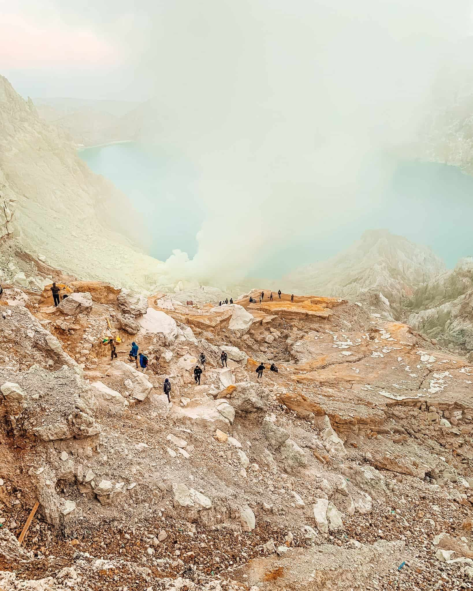 View of the Crater Hike of Mount Ijen in East Java - The Next Trip