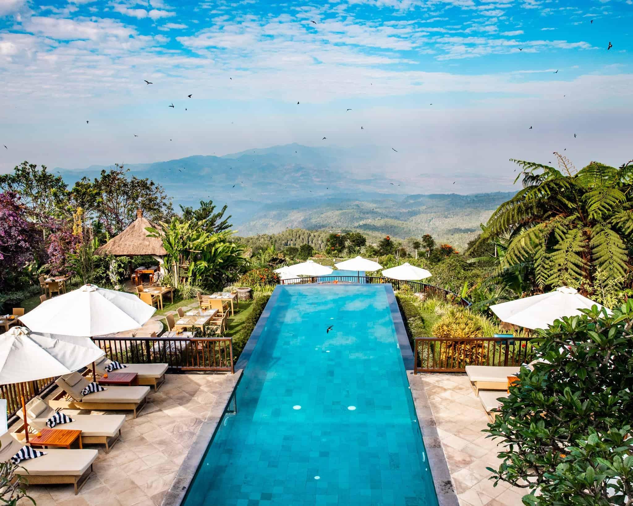Infinity Pool at Munduk Moding Plantation Bali - The Next Trip