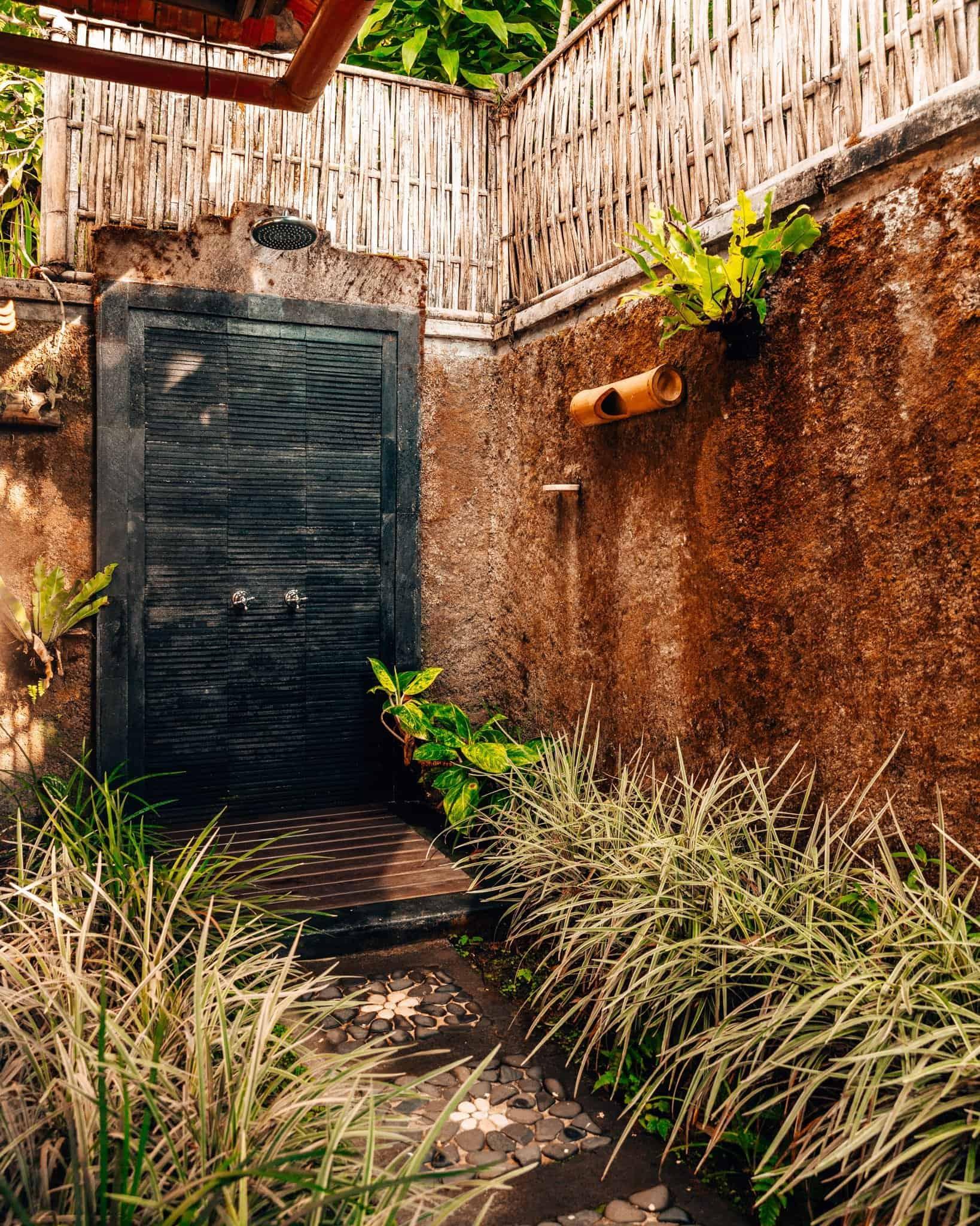 Outdoor Shower at Munduk Moding Plantation - The Next Trip