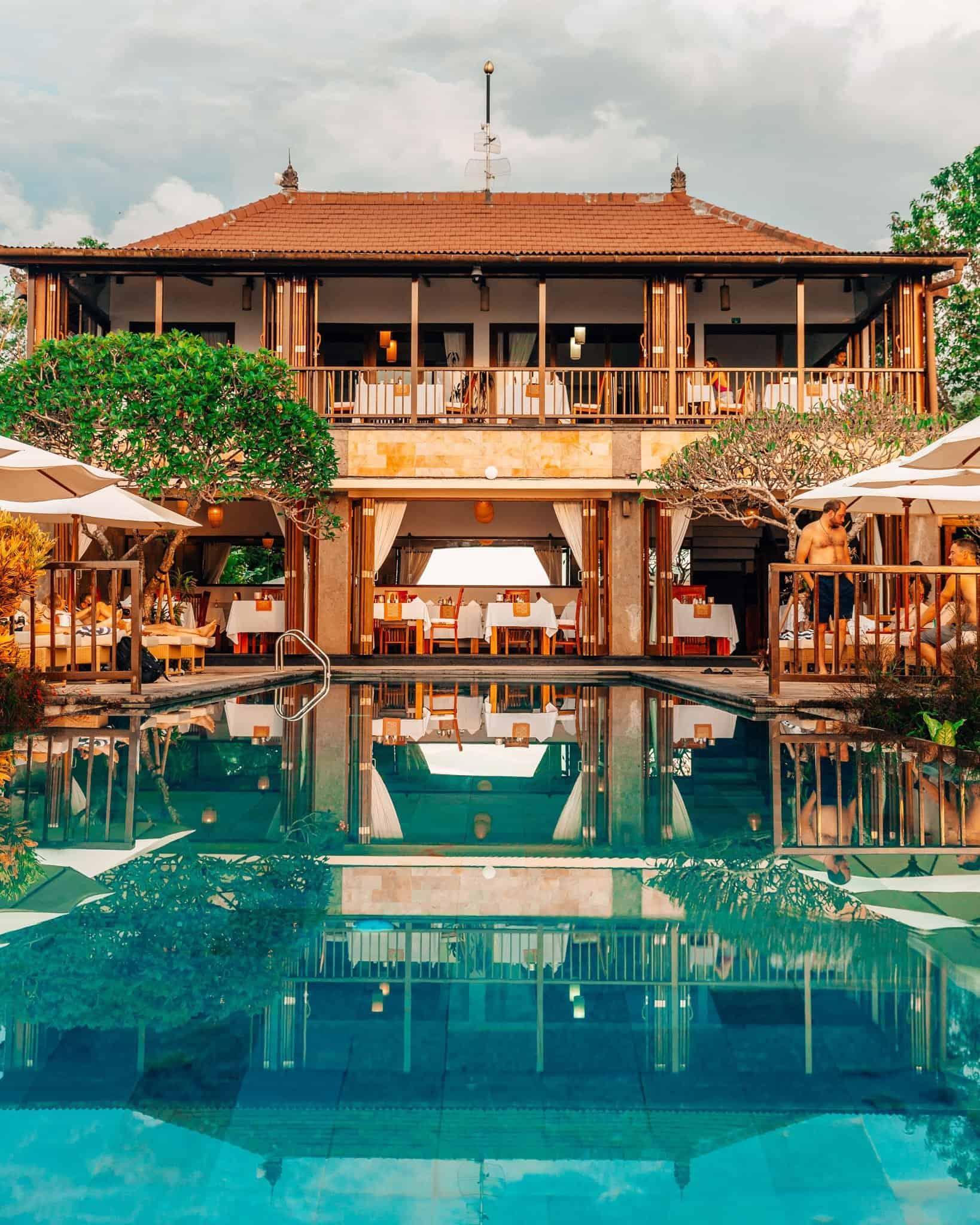 Pool and Breakfast area at Munduk Moding Plantation Bali - The Next Trip