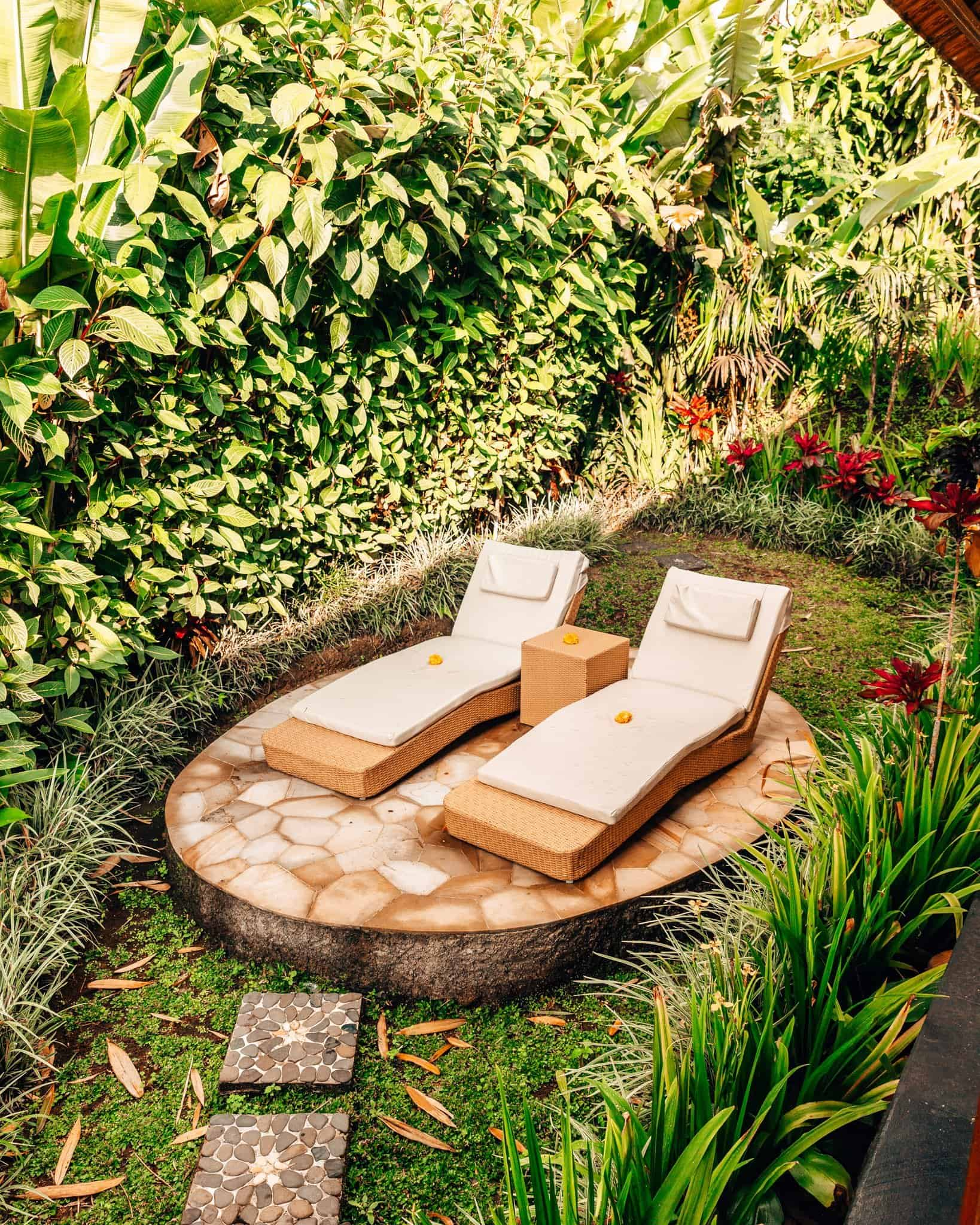 Outdoor Relaxing Area at Munduk Moding Plantation Bali - The Next Trip