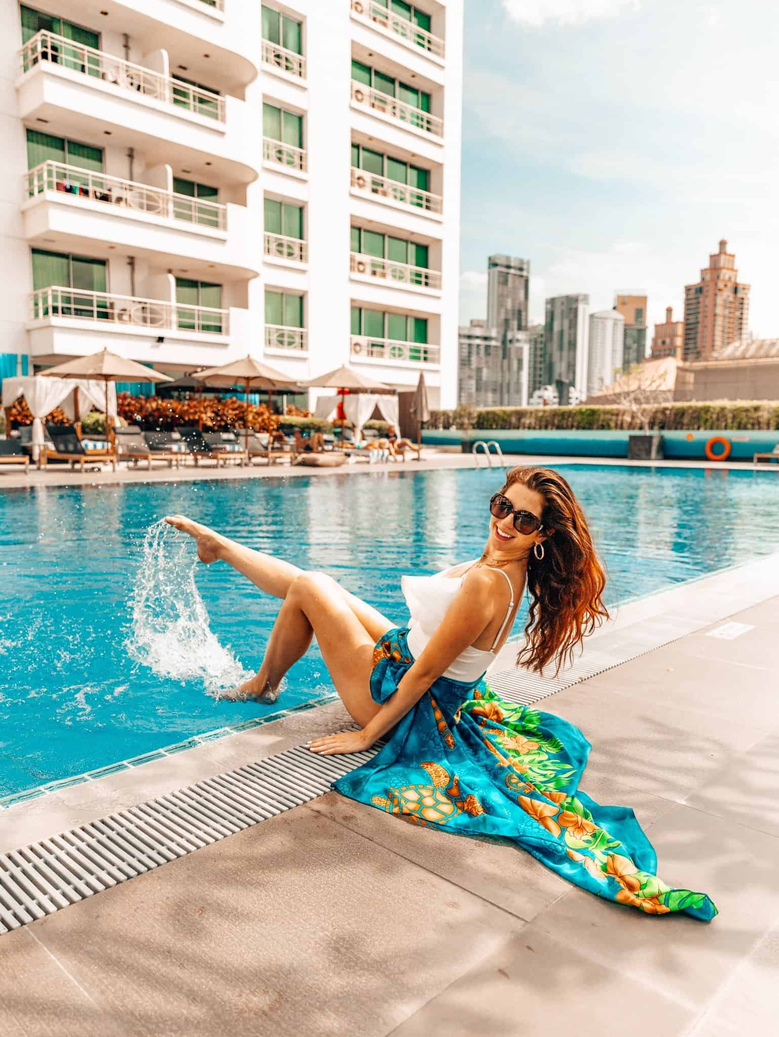 Pool Area of Shama Asoke Lakeview Bangkok - The Next Trip
