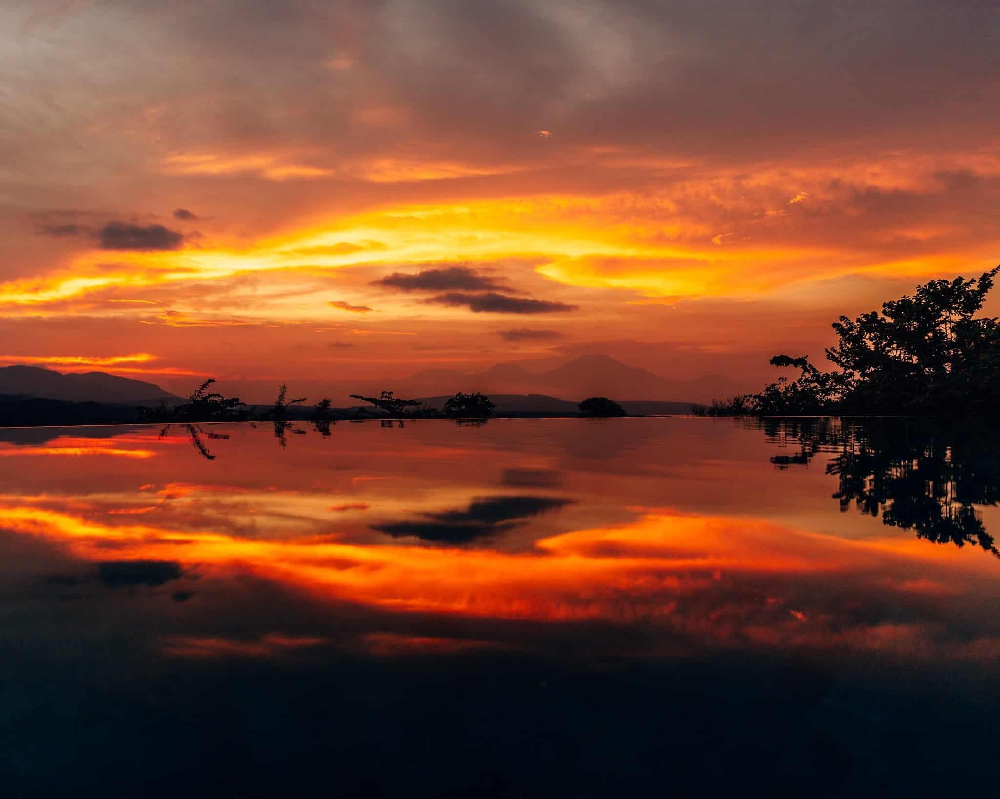 Bright Red Sunset at Sumberkima Hill, Bali - The Next Trip