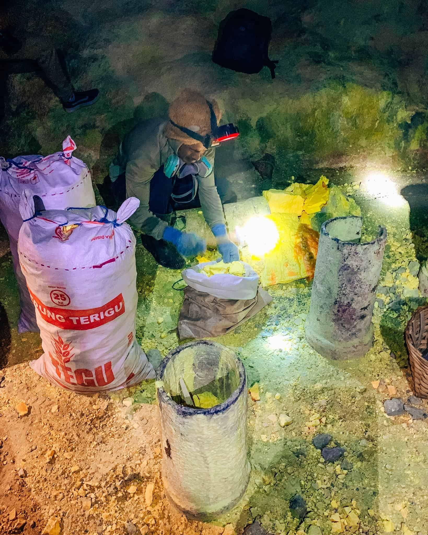 Sulfur Mine Worker at Mount Ijen, East Java - The Next Trip