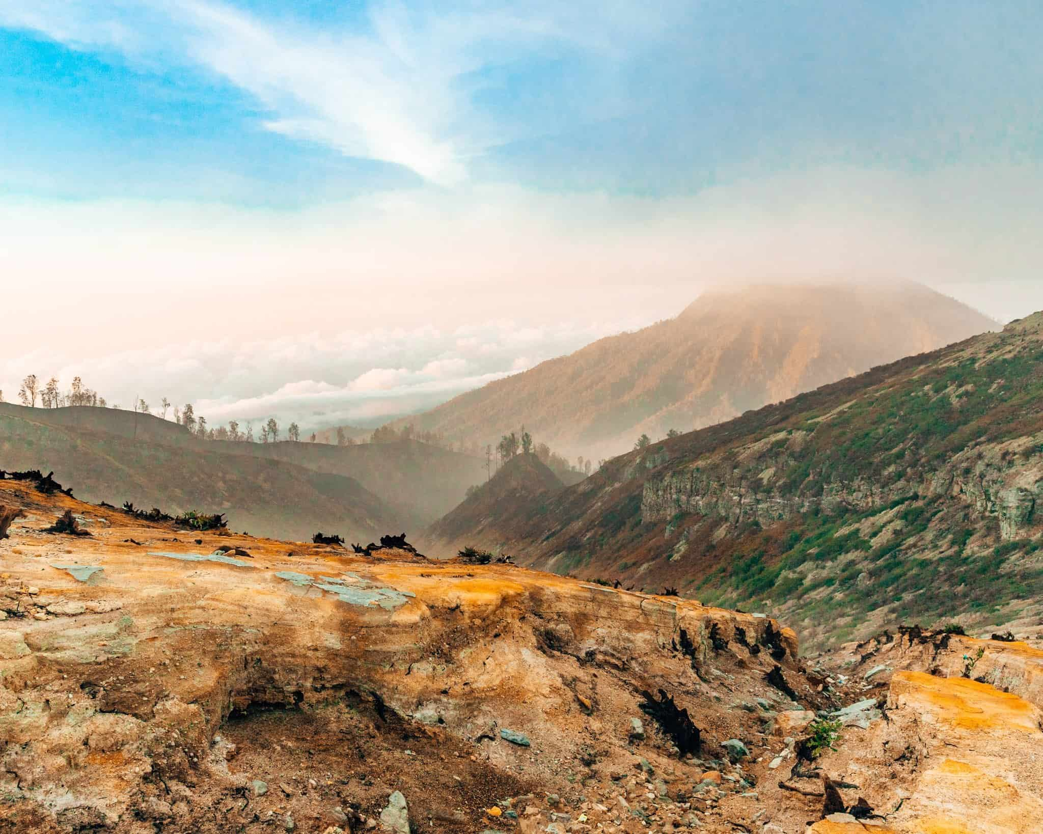 View from Mount Ijen, East Java - The Next Trip