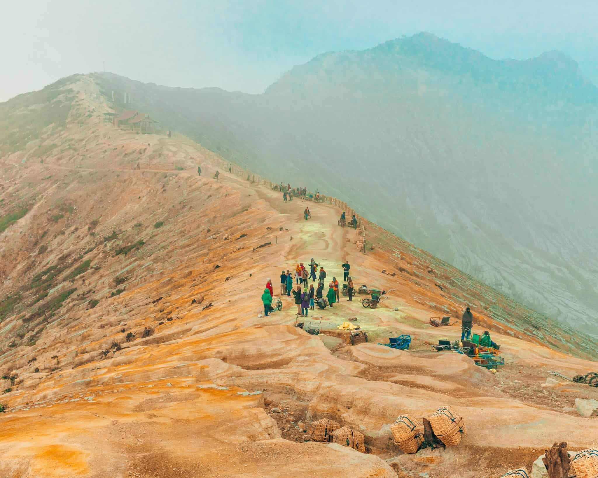 Crater Rim on Mount Ijen, East Java - The Next Trip