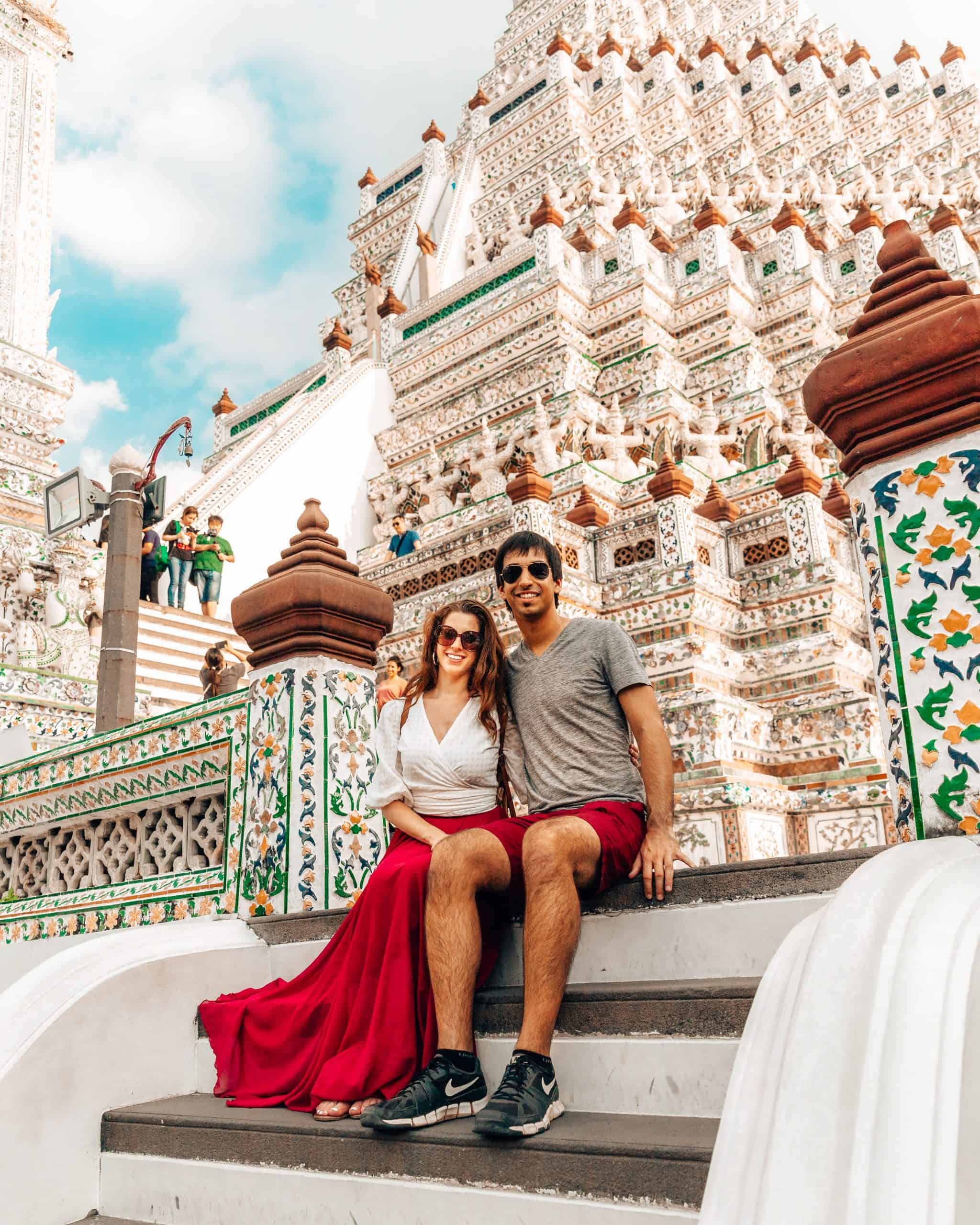 Bettina and Kyle at Wat Arun - The Next Trip