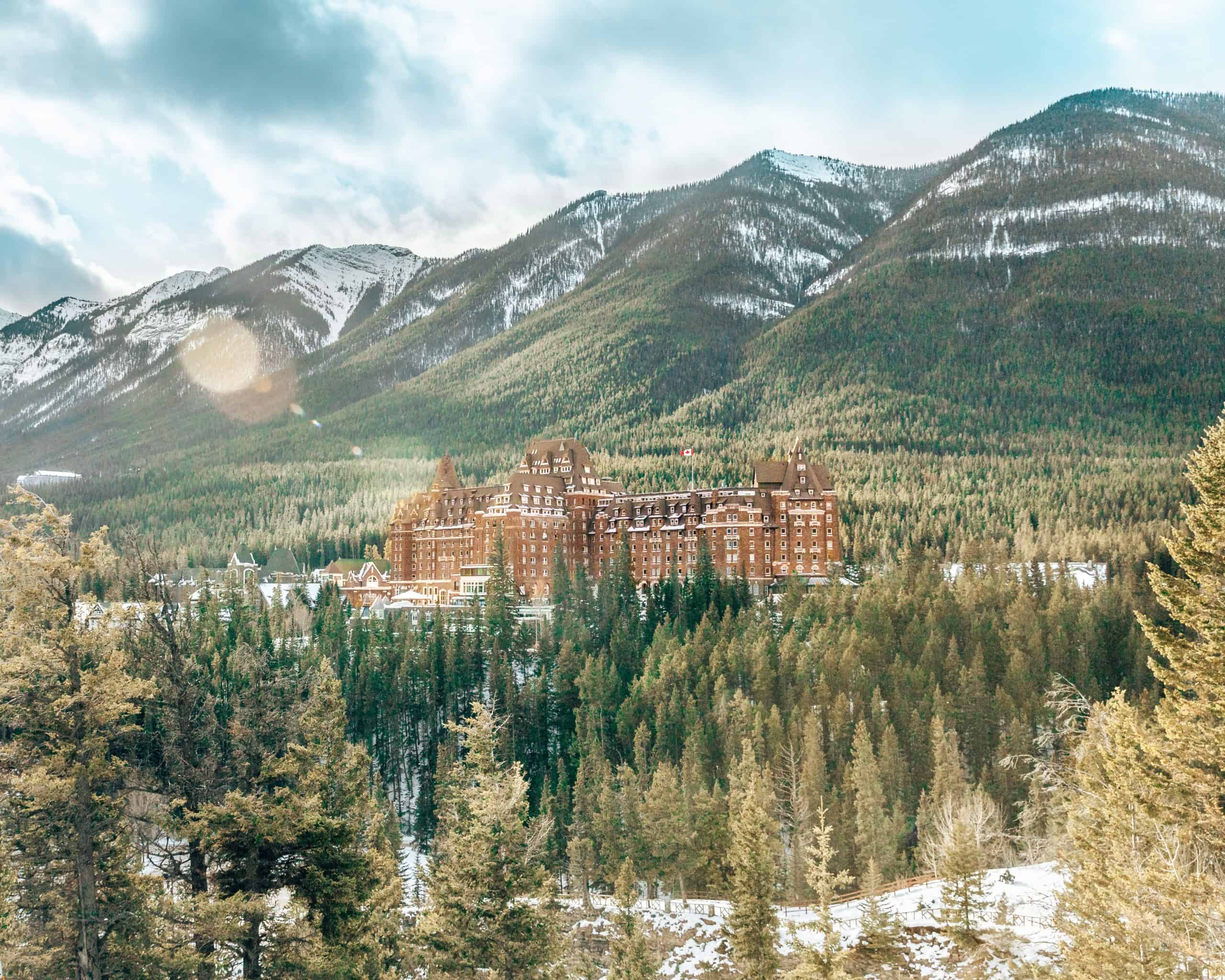 View of Fairmont Springs Hotel in Banff - The Next Trip