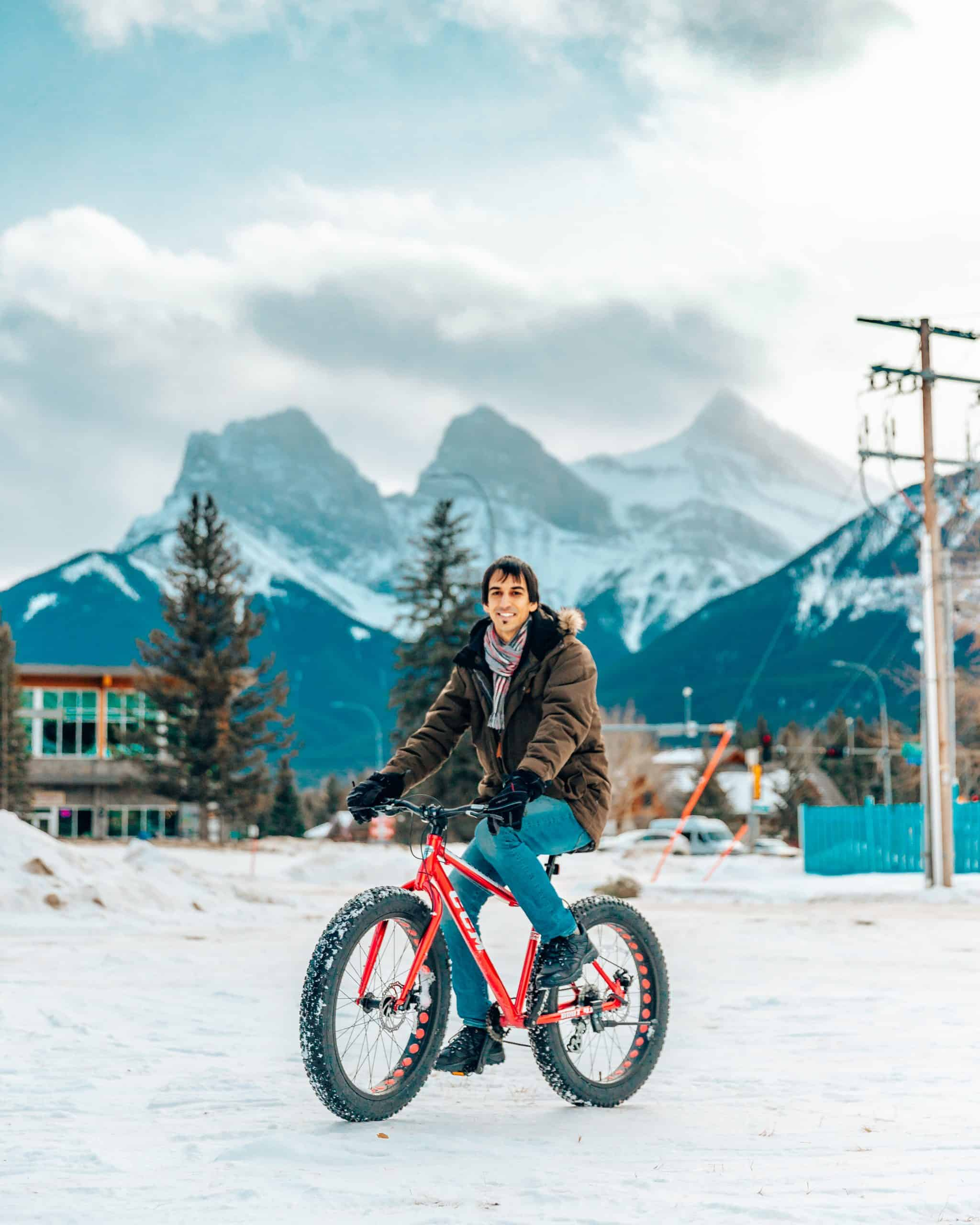 Fat Bike driving in Canmore - The Next Trip