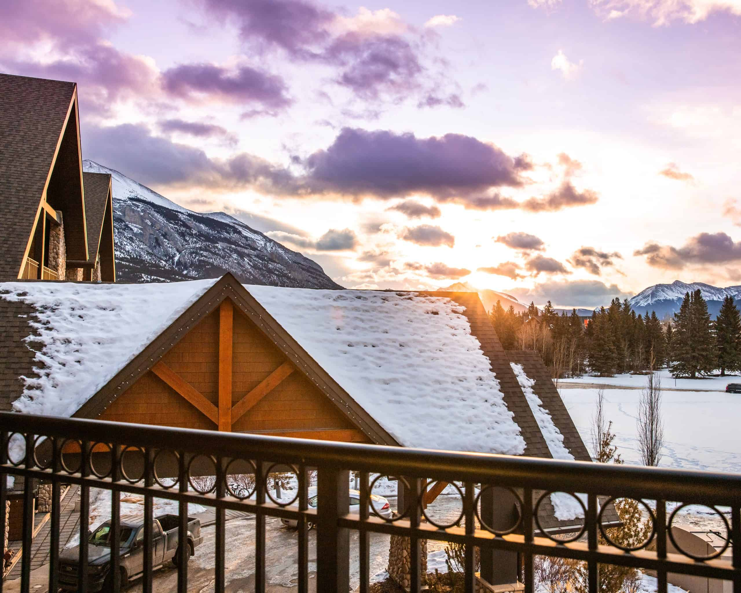 Sunrise at Grande Rockies Resort Canmore - The Next Trip