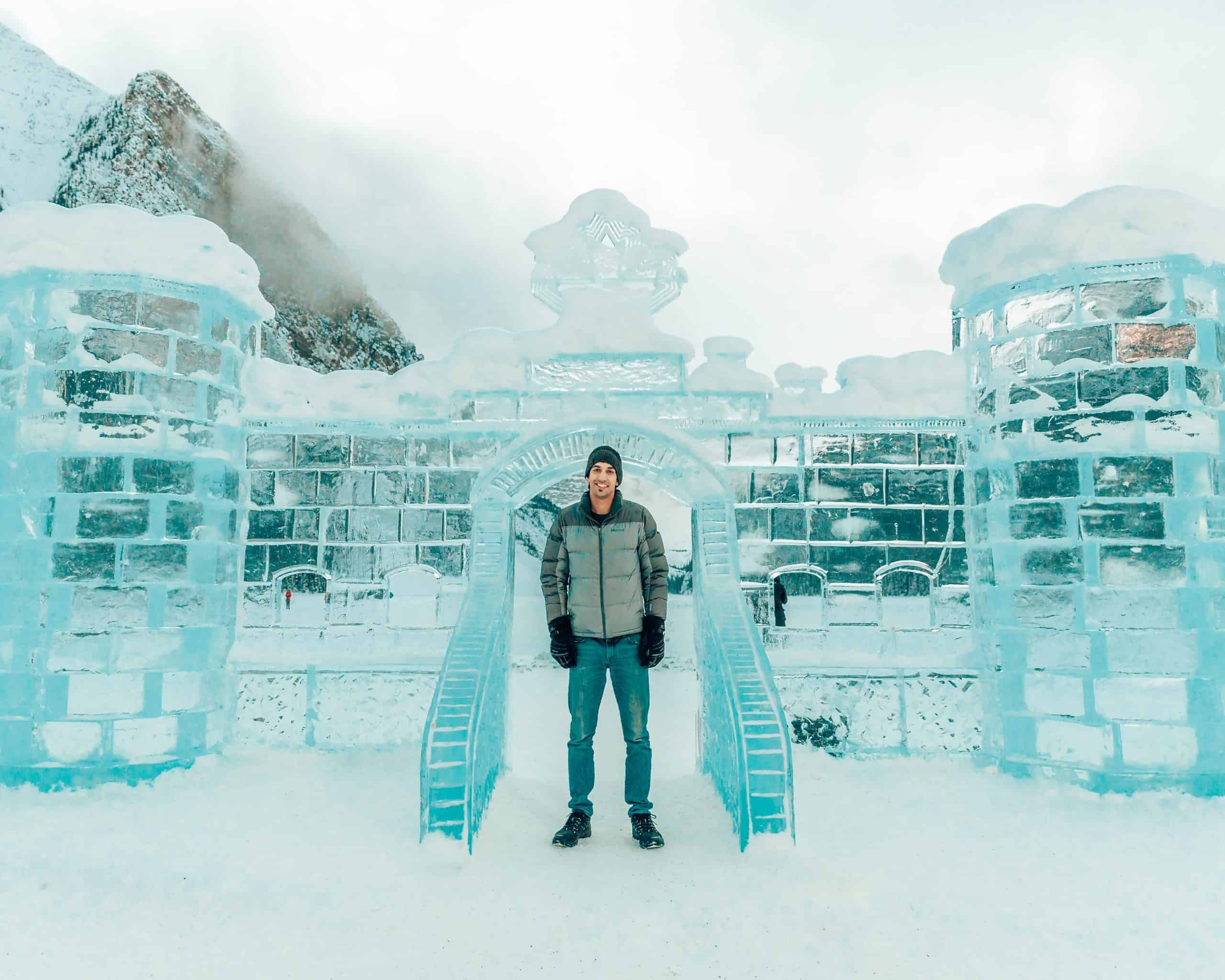 Ice Castle at Lake Louise - The Next Trip