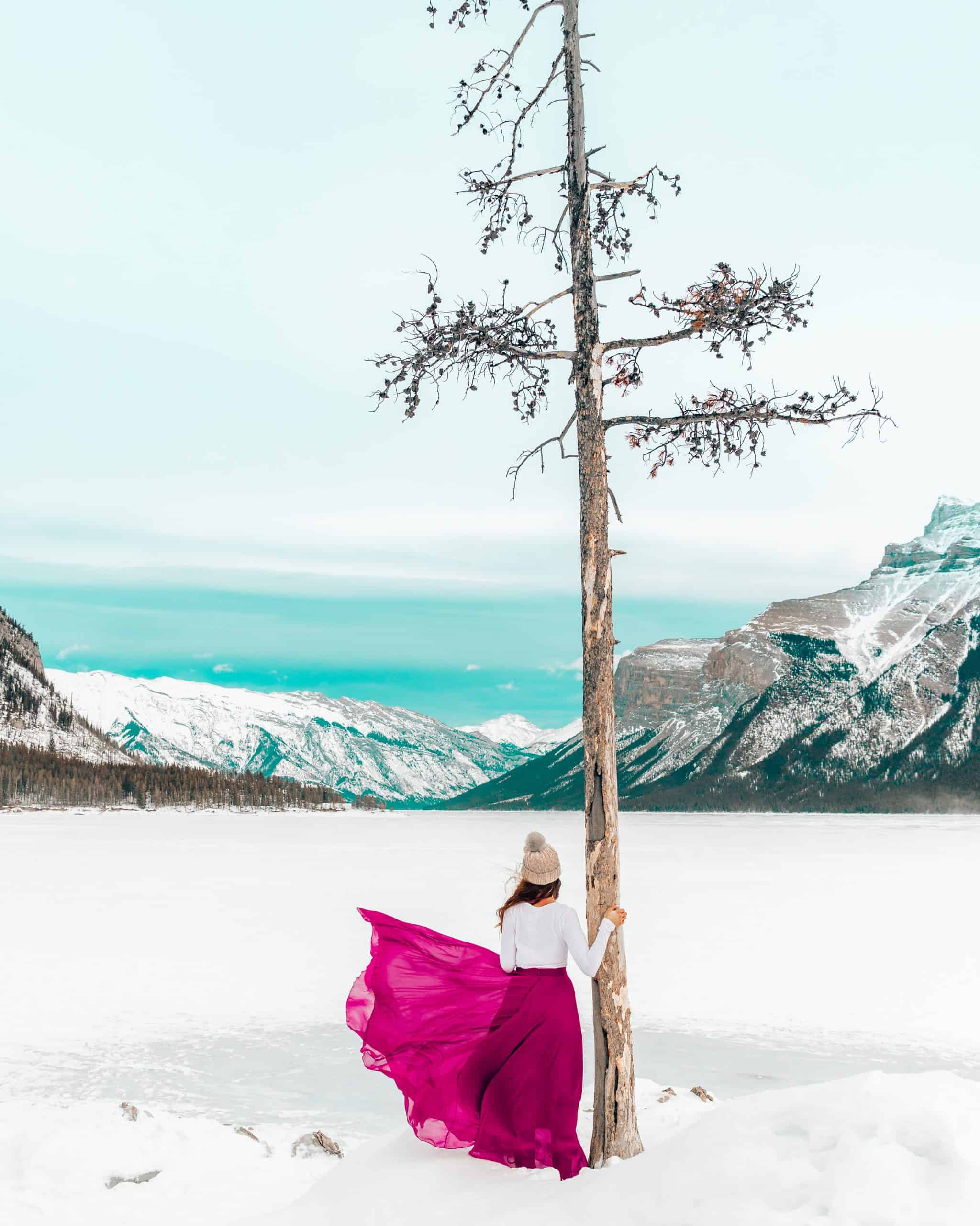 Snowshoeing at Lake Minnewanka Banff - The Next Trip