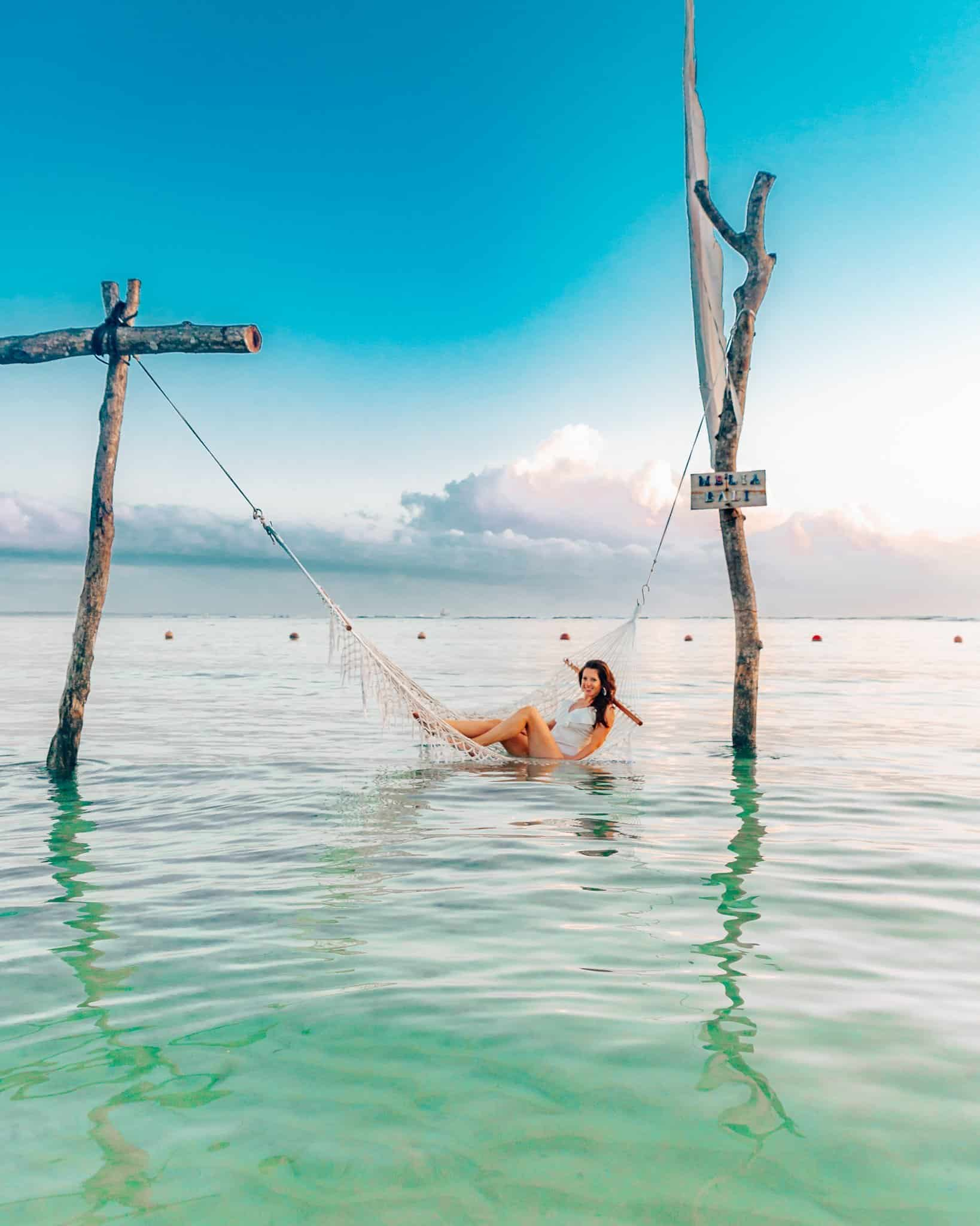 Nusa Dua Beach Water Hammock in Bali - The Next Trip