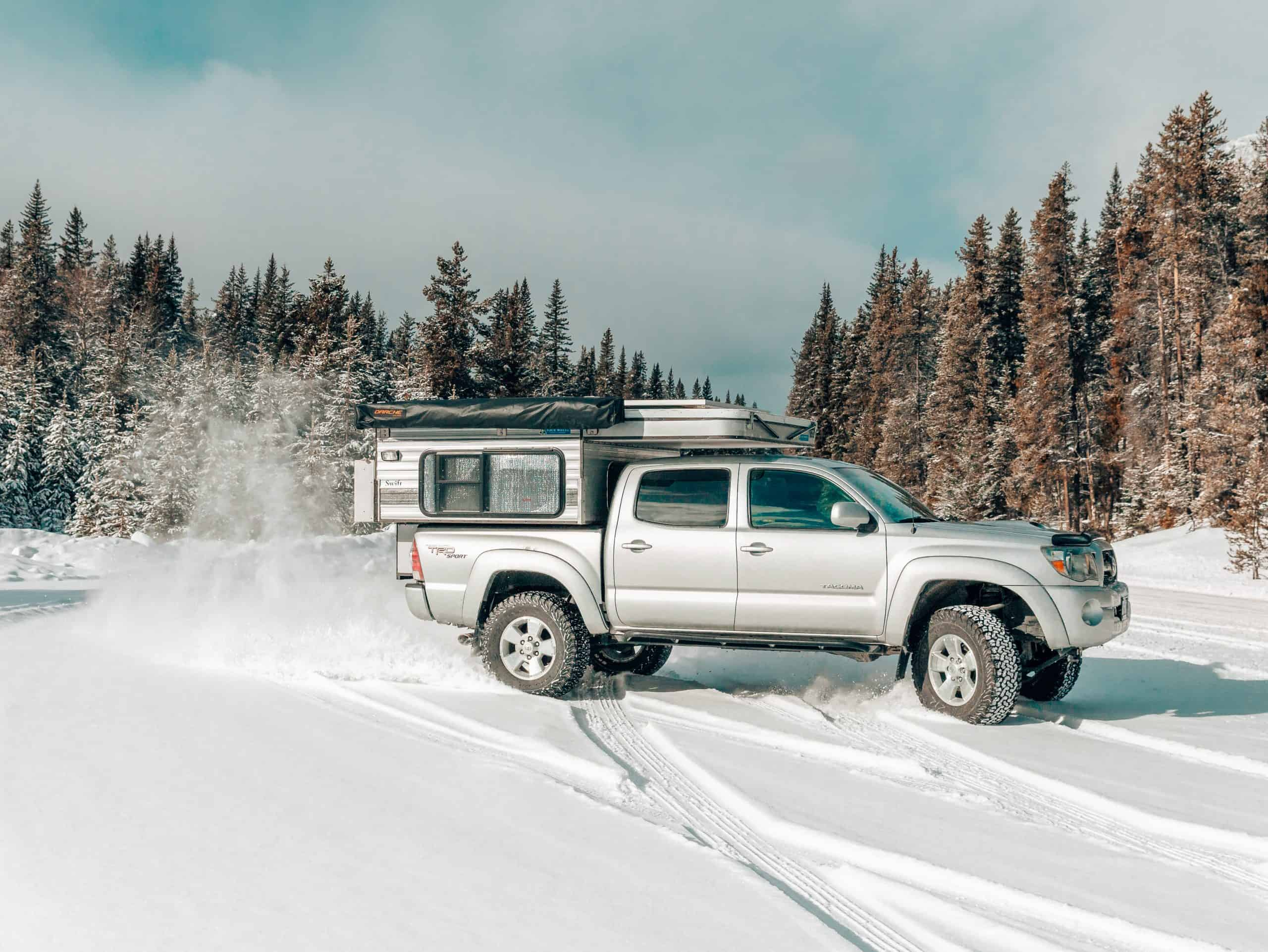 Toyota Tacoma driving in the snow - The Next Trip