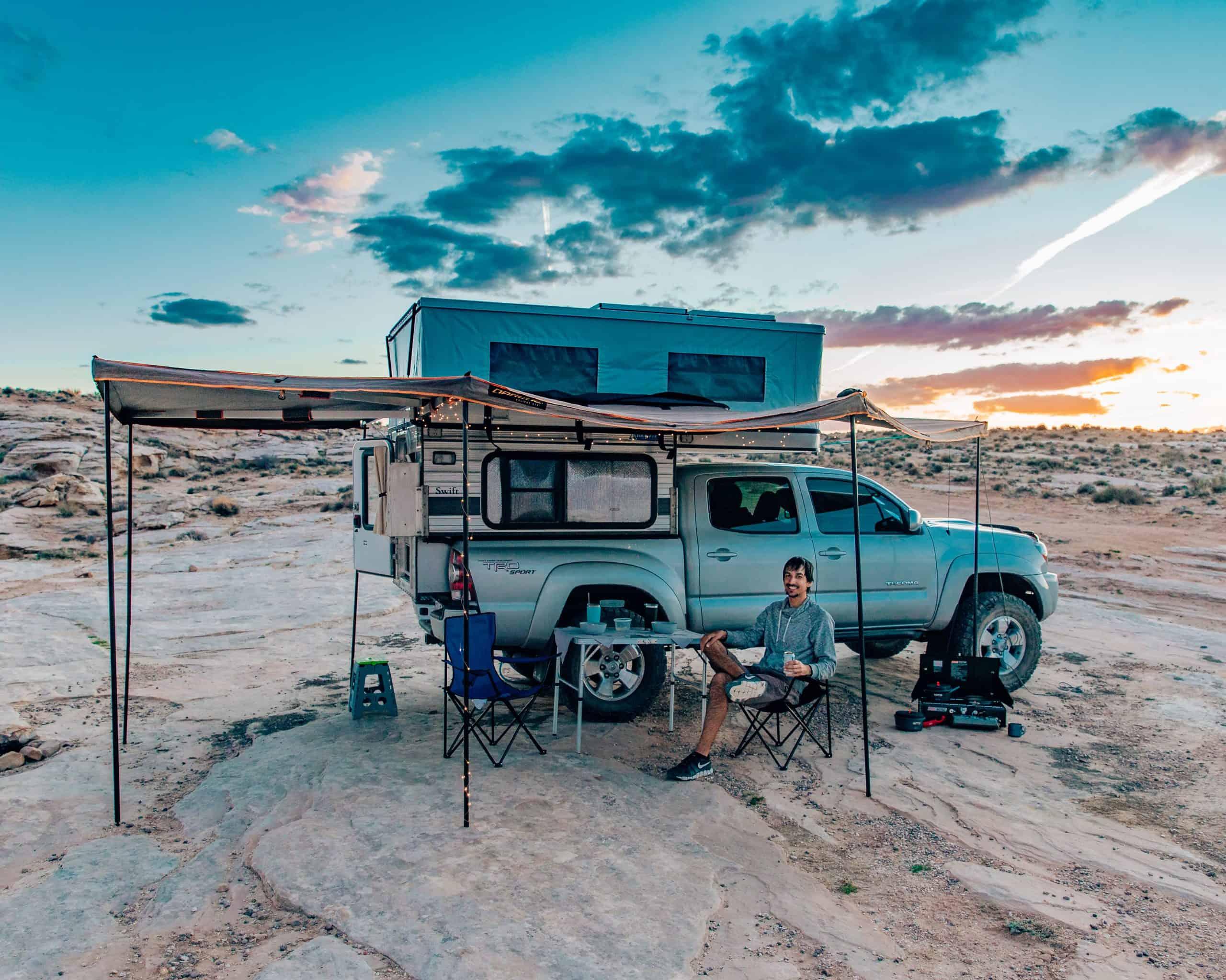Camp Set-Up for full time camper living