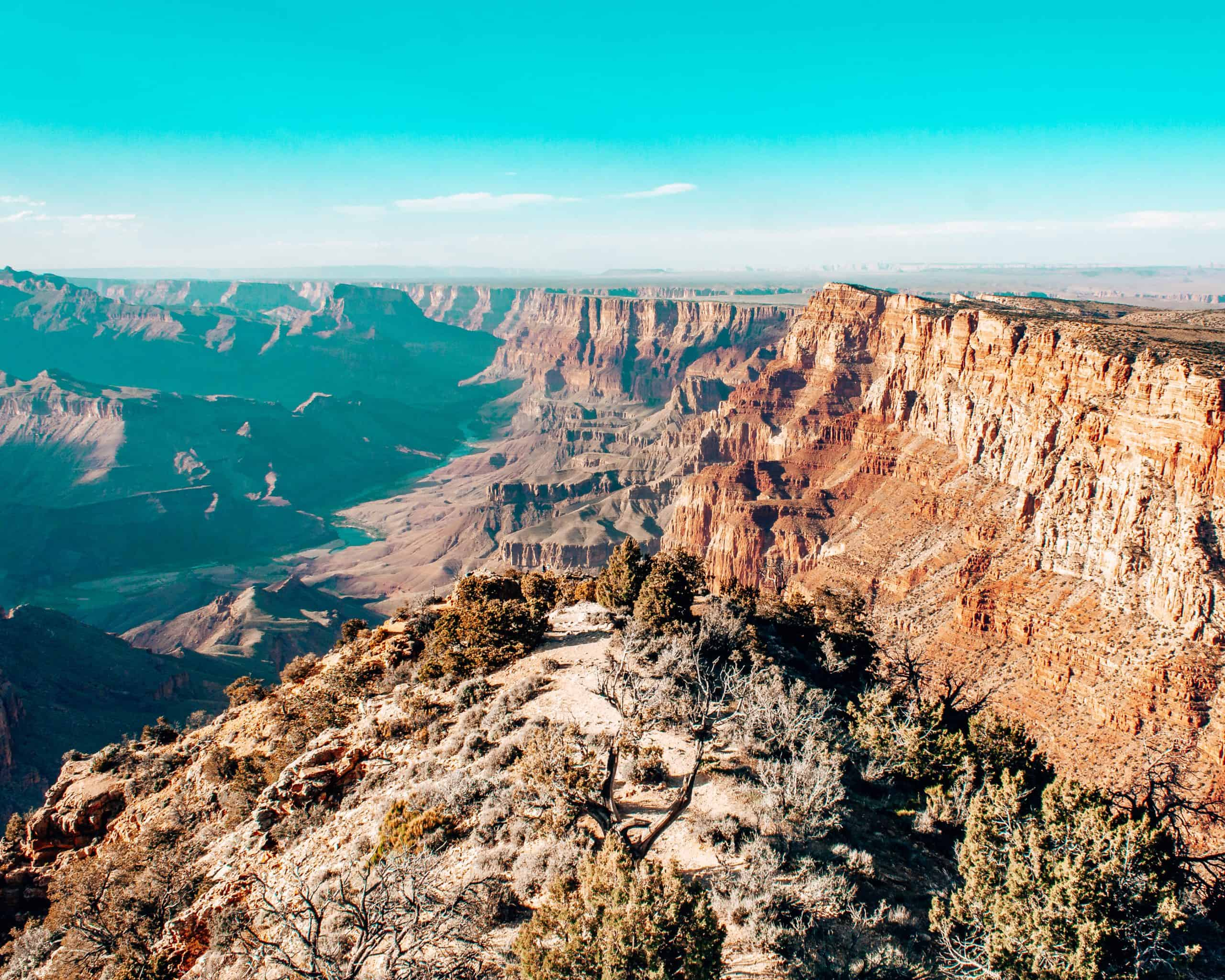 View of Grand Canyon South Rim Arizona