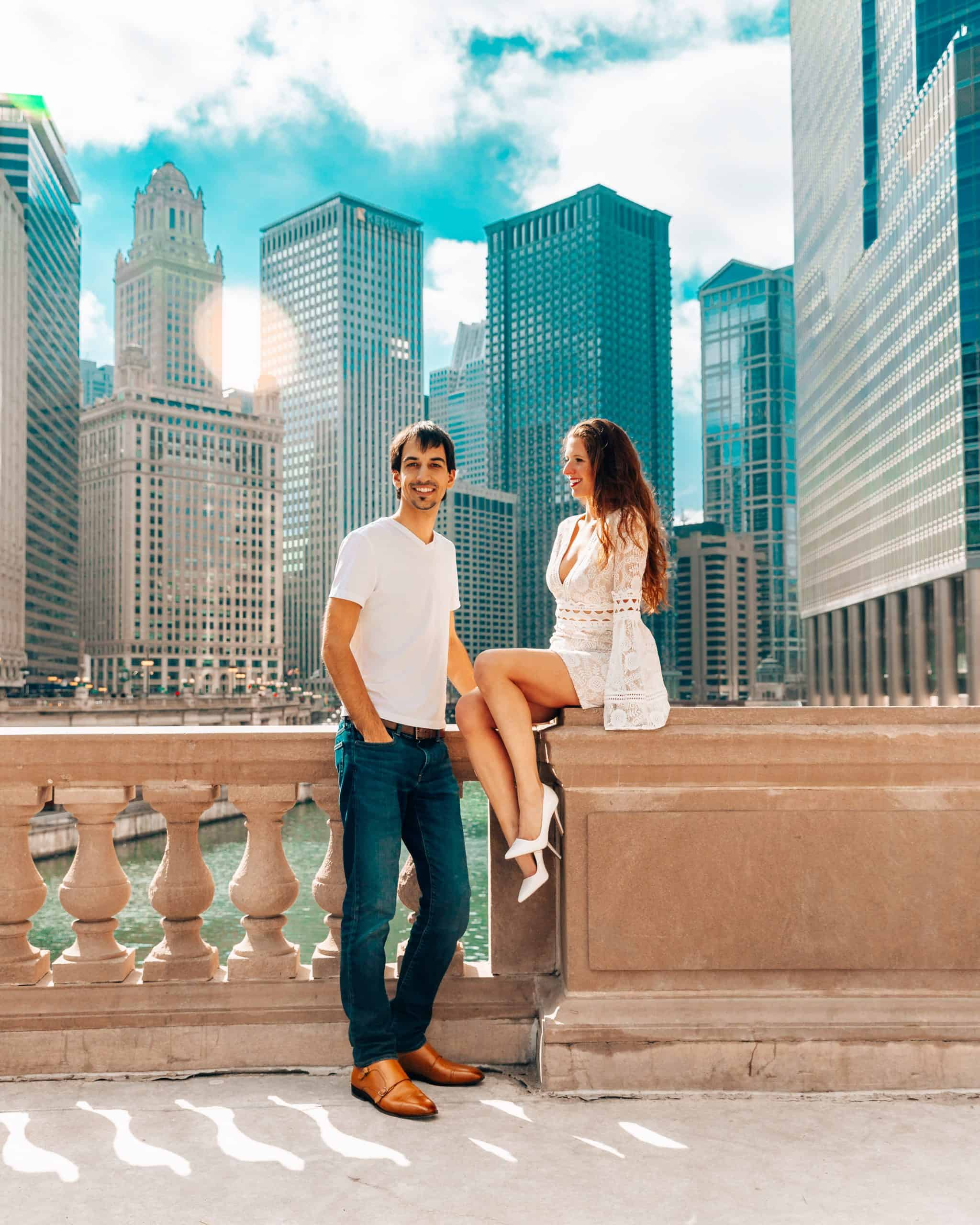 Kyle and Bettina at Magnificent Mile in Chicago
