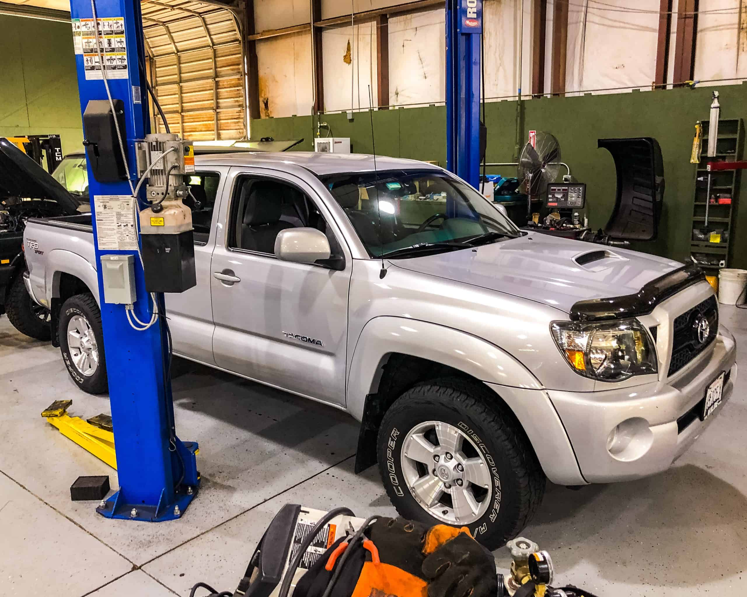 Toyota Tacoma Being Modified at Performance Rovers in Charlotte