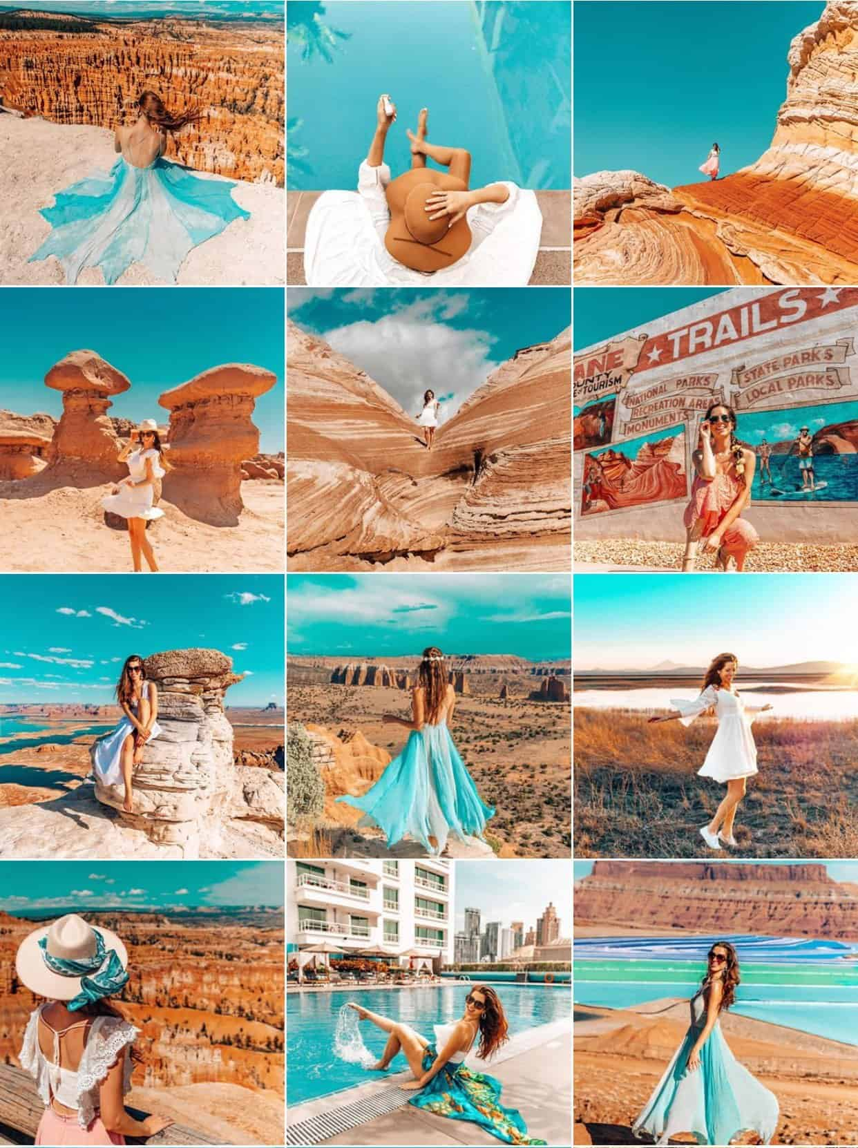 The Next Trip Blue and Orange Instagram Feed