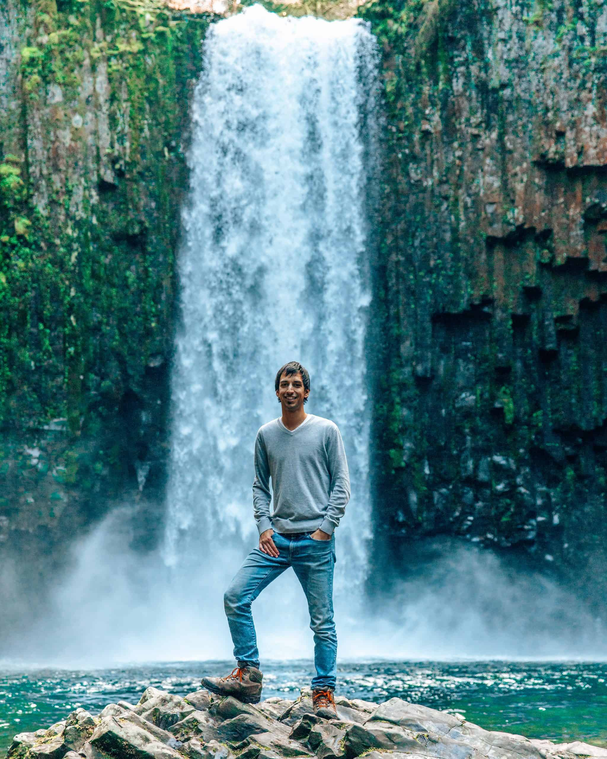 Kyle Standing at Abiqua Falls, Oregon