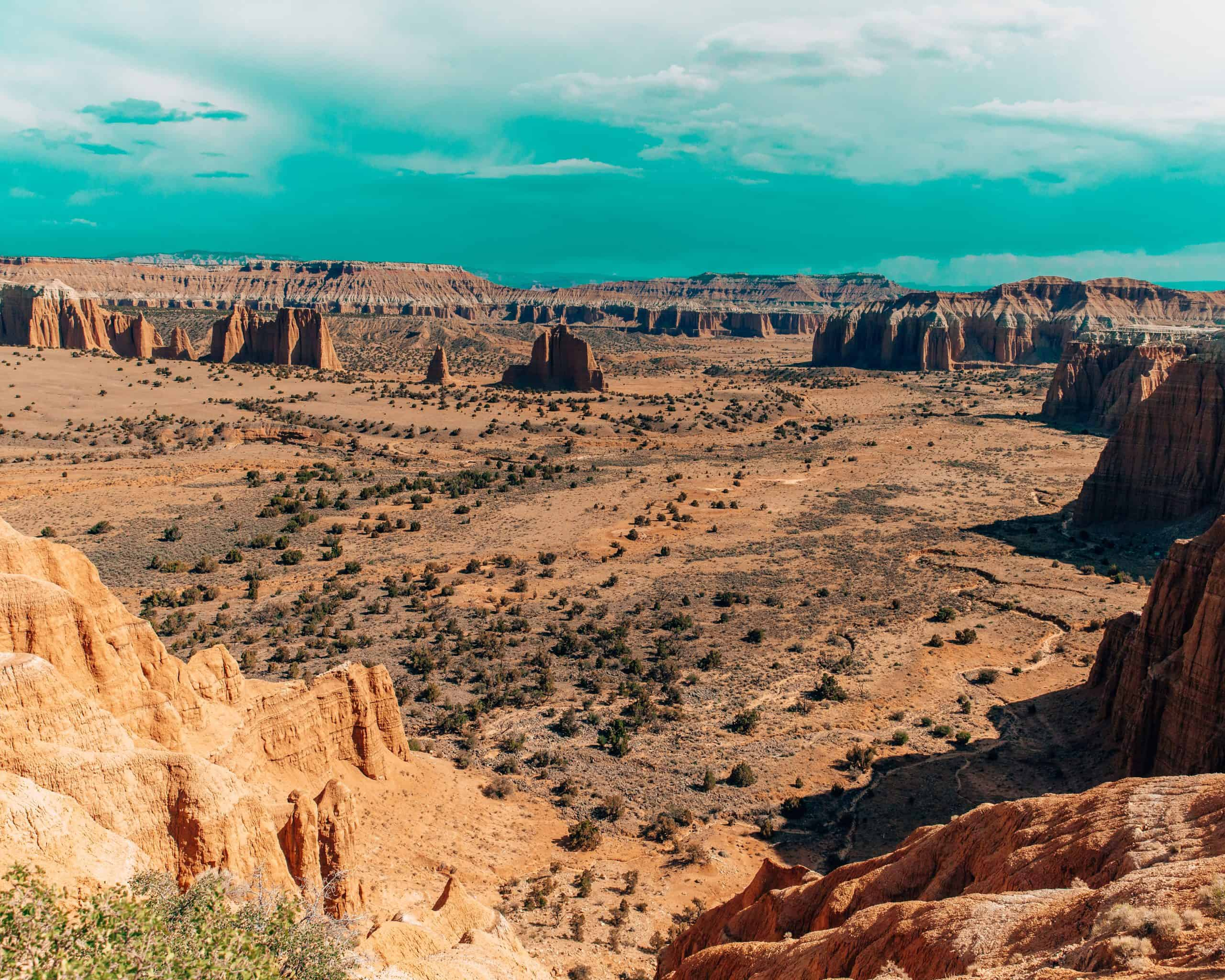 View of Cathedral Valley at Capitol Reef National Park, Utah