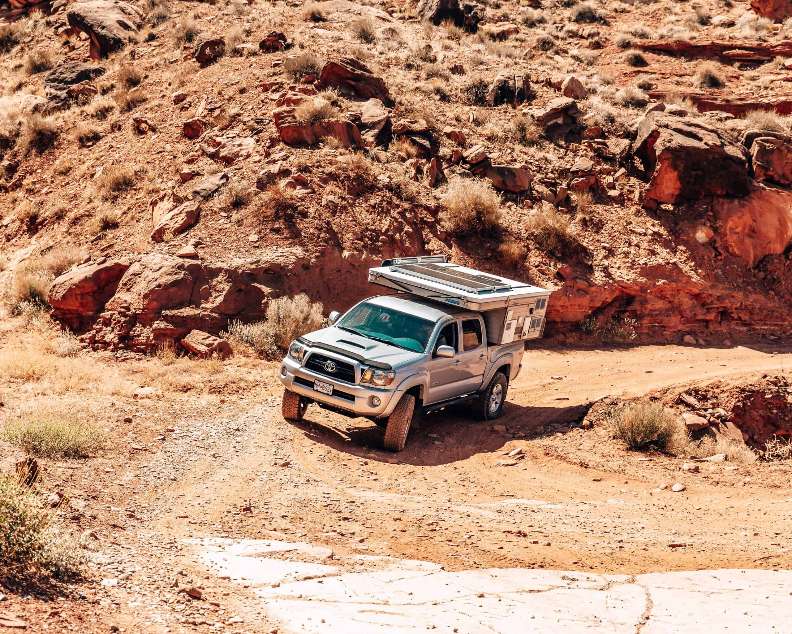 Driving Chicken Corners Off-Road Trail, Moab Utah
