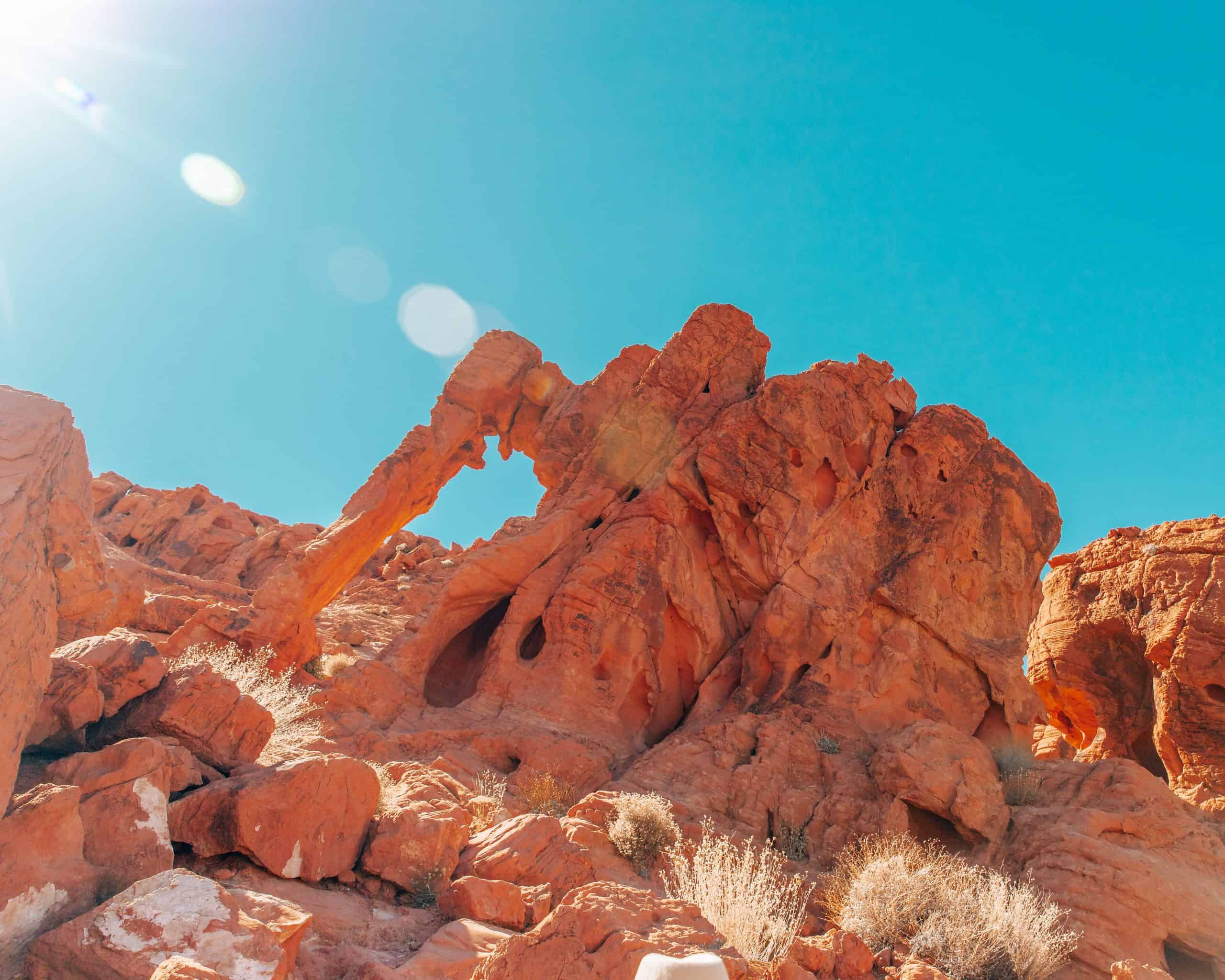 Elephant Rock in the Sun at Valley of Fire