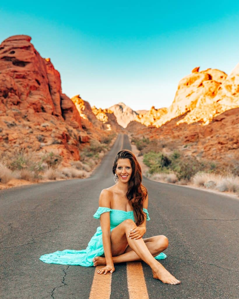 Mouse Tank Road in Valley of Fire