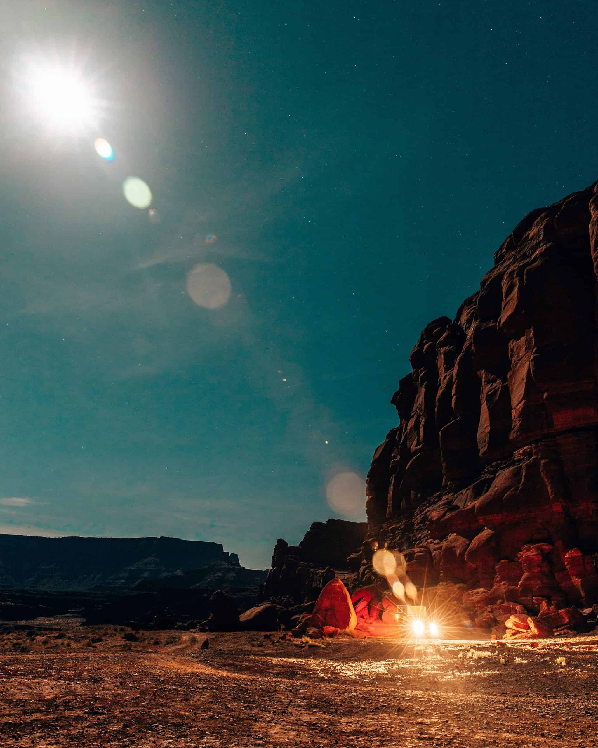 Camping during Supermoon at Chicken Corners Utah