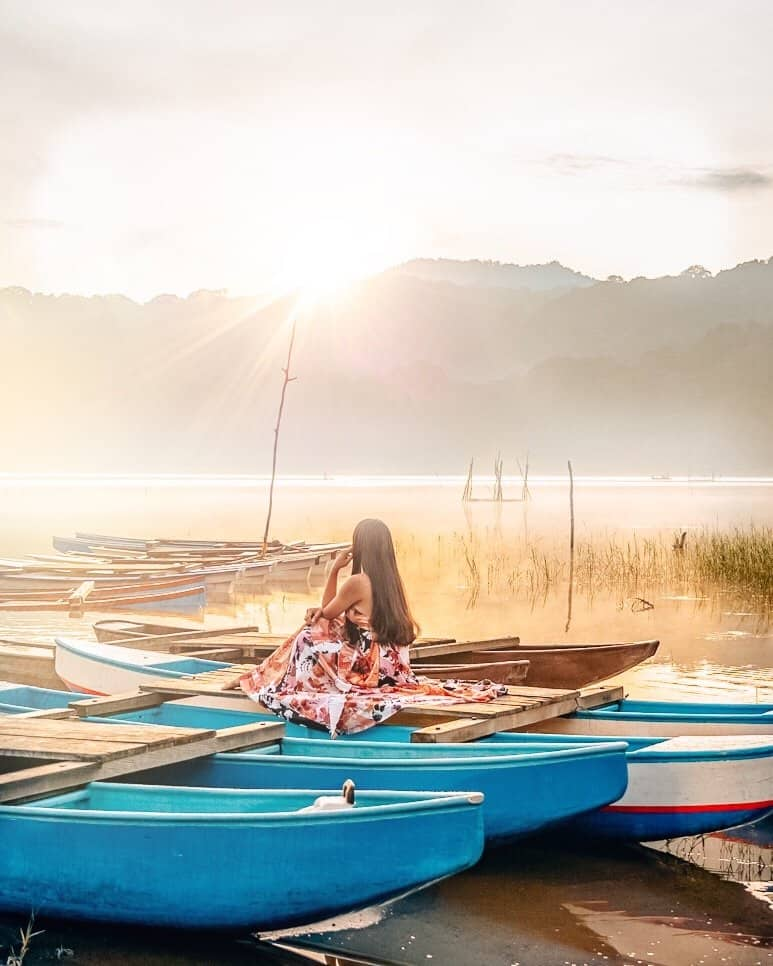 Sunrise at lake Tamblingan Bali - 10 Bali Hidden Gems