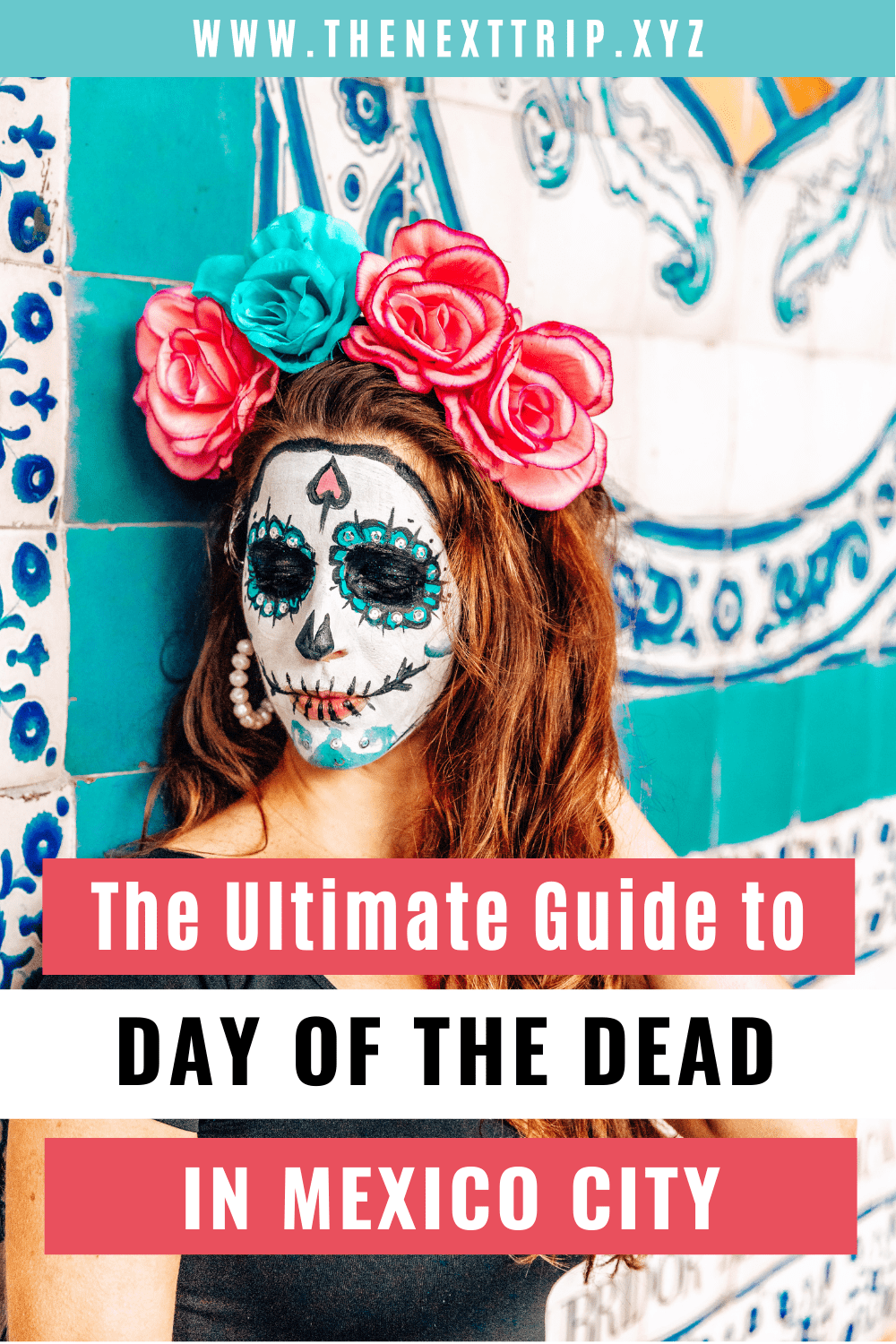 The ultimate guide to celebrating the Day of the Dead Mexico 2020 and traveling to Mexico City! All you need to know about the Day of the Dead parade, the history and culture behind the holiday, and where to find the best tacos in Mexico City! | Mexico City Guide | Mexico City Travel | Day of the Dead Guide | Dia de los Muertos Mexico City | Dia de los Muertos Altar | Day of the Dead Face Paint | Day of the Dead Costumes | Day of the Dead Ofrendas