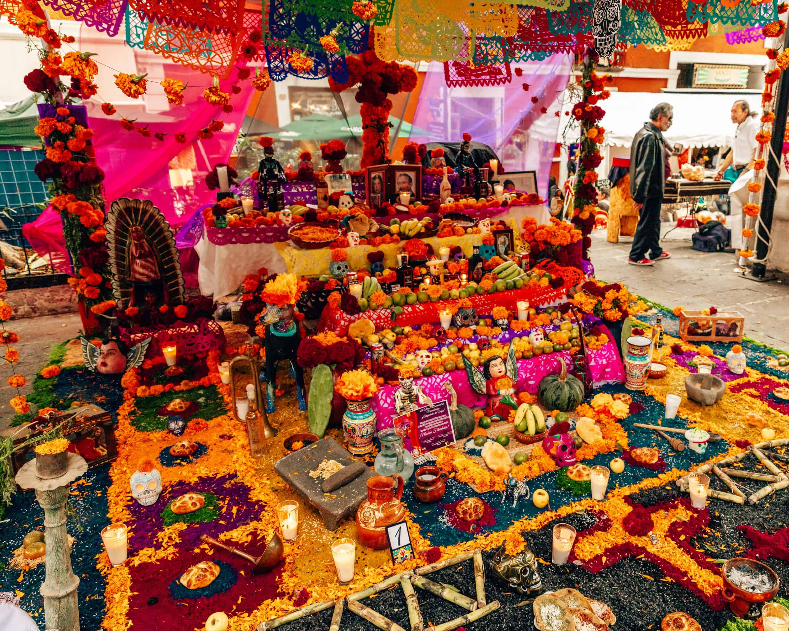 Public Ofrendas for Day of the Dead Mexico City