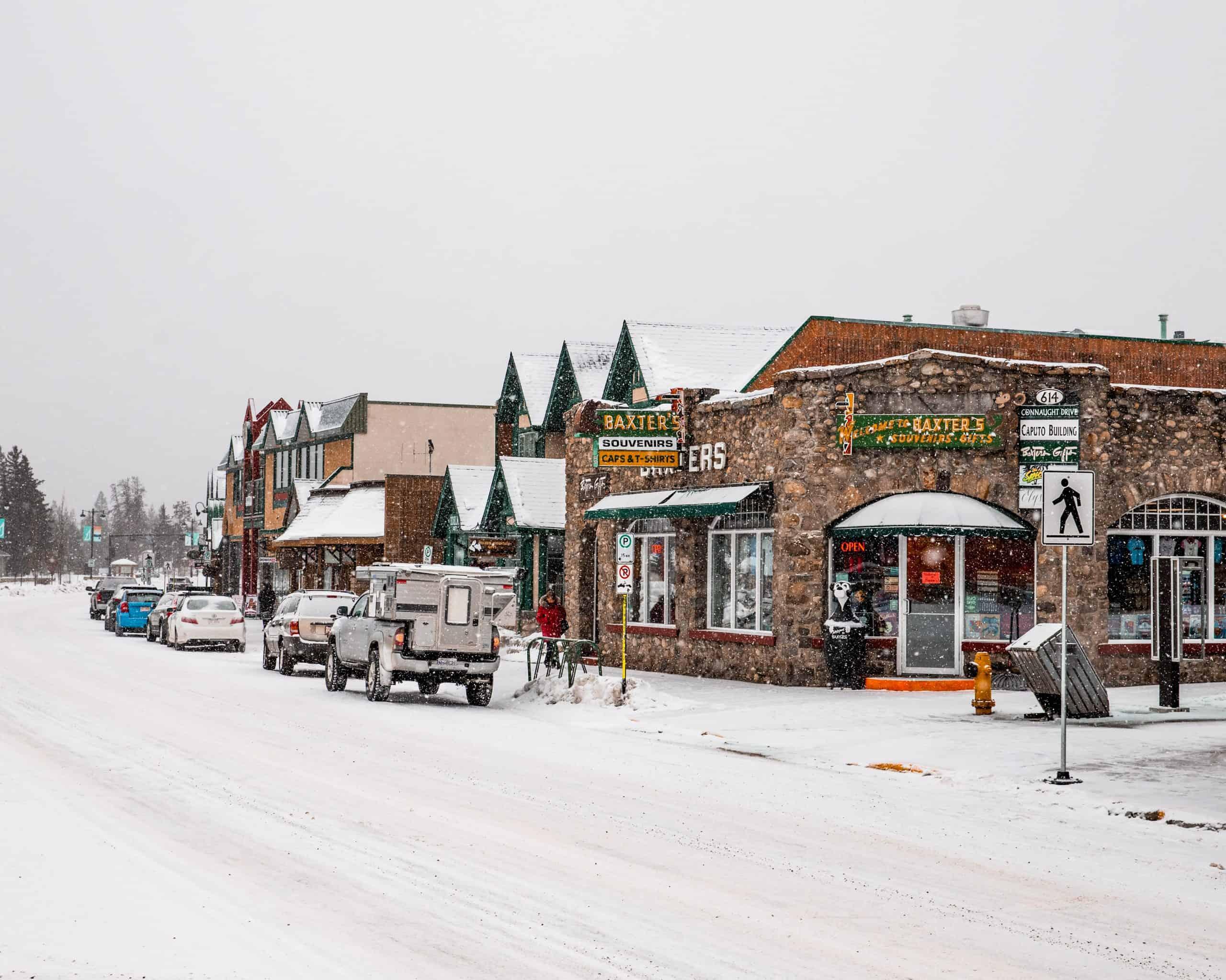 Snow-covered Jasper in Winter