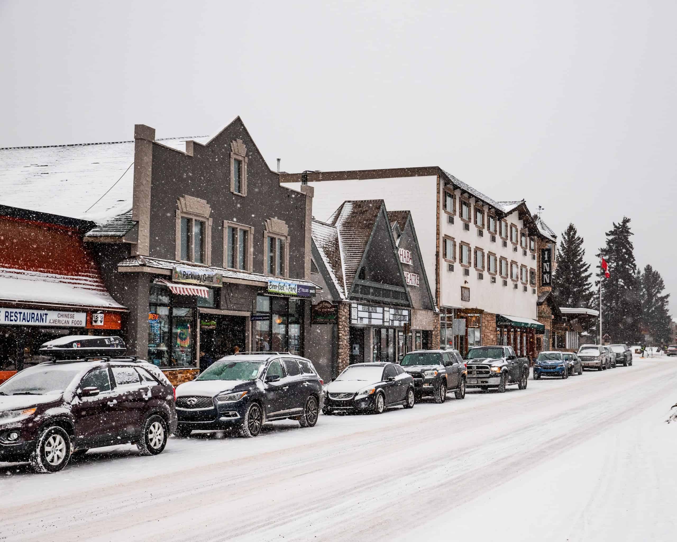Snow Covered Jasper, Canada