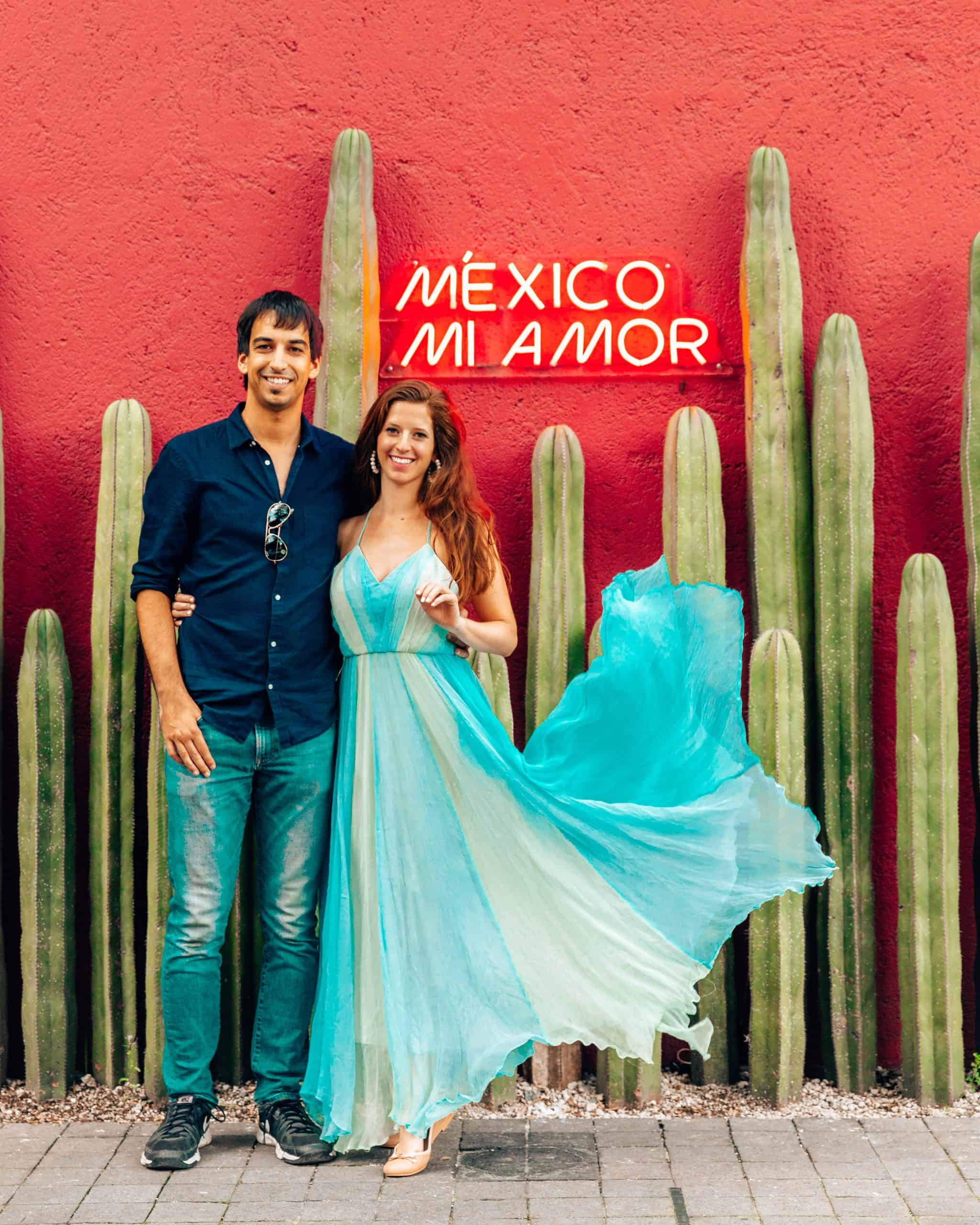 Kyle and Bettina at Mexico Mi Amor Mural in Mexico City