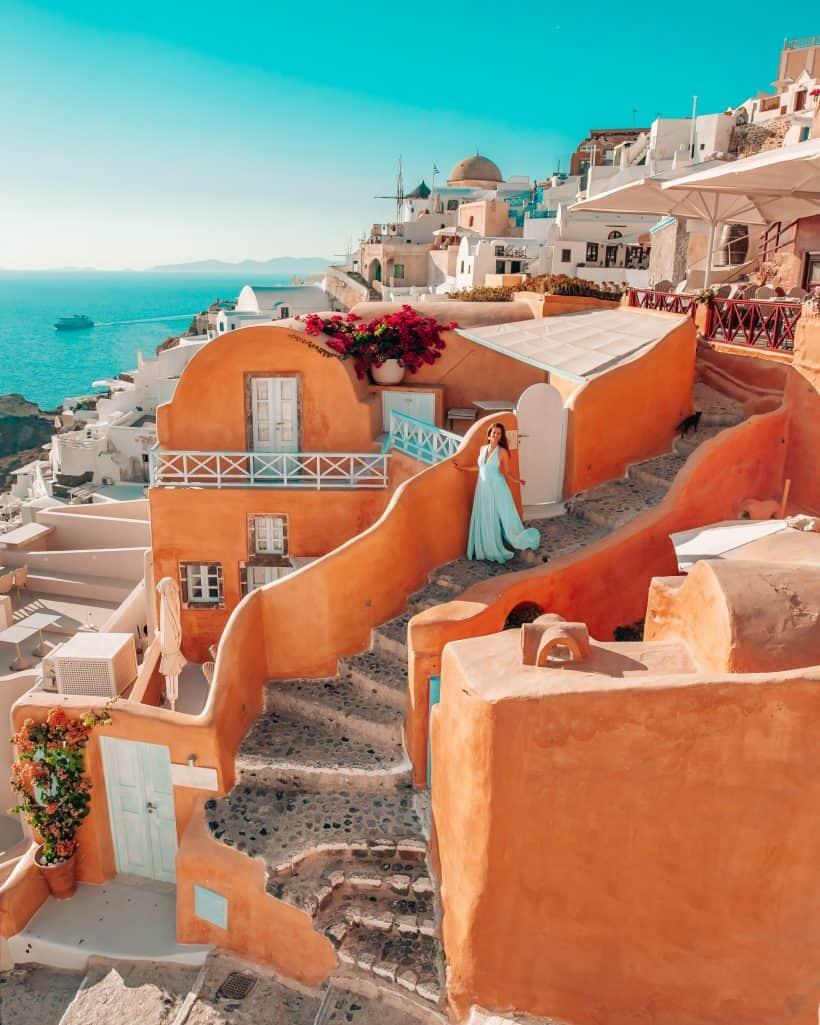 Santorini Pink Houses