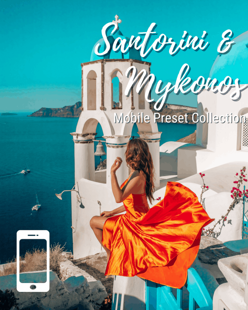 Mobile Lightroom Presets - Santorini & Mykonos Collection