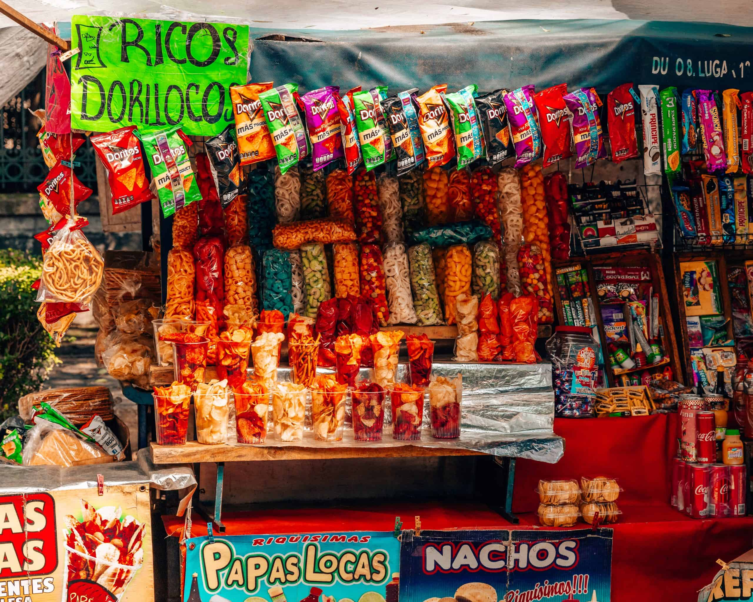 Snack Stand in Chapultepec Park Mexico City
