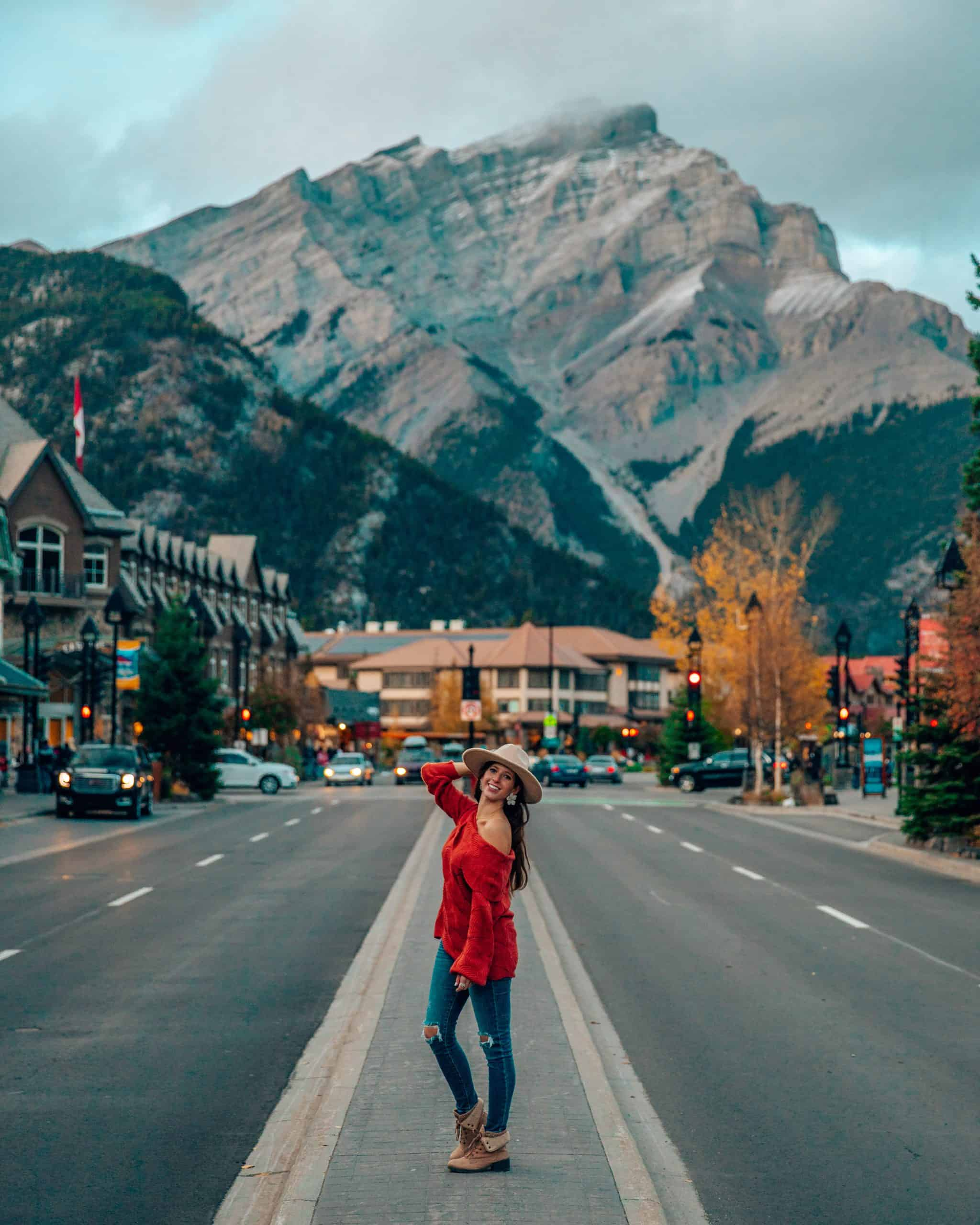 Bettina on Banff Avenue in Banff