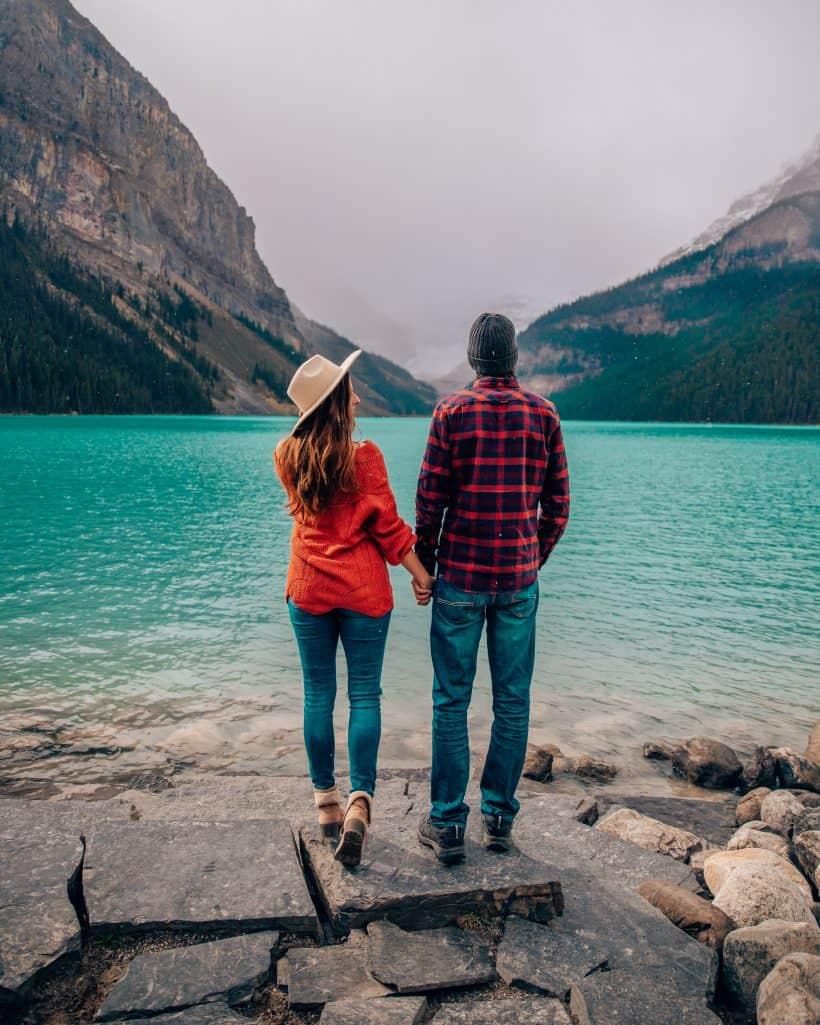 Couple Photoshoot at Lake Louise