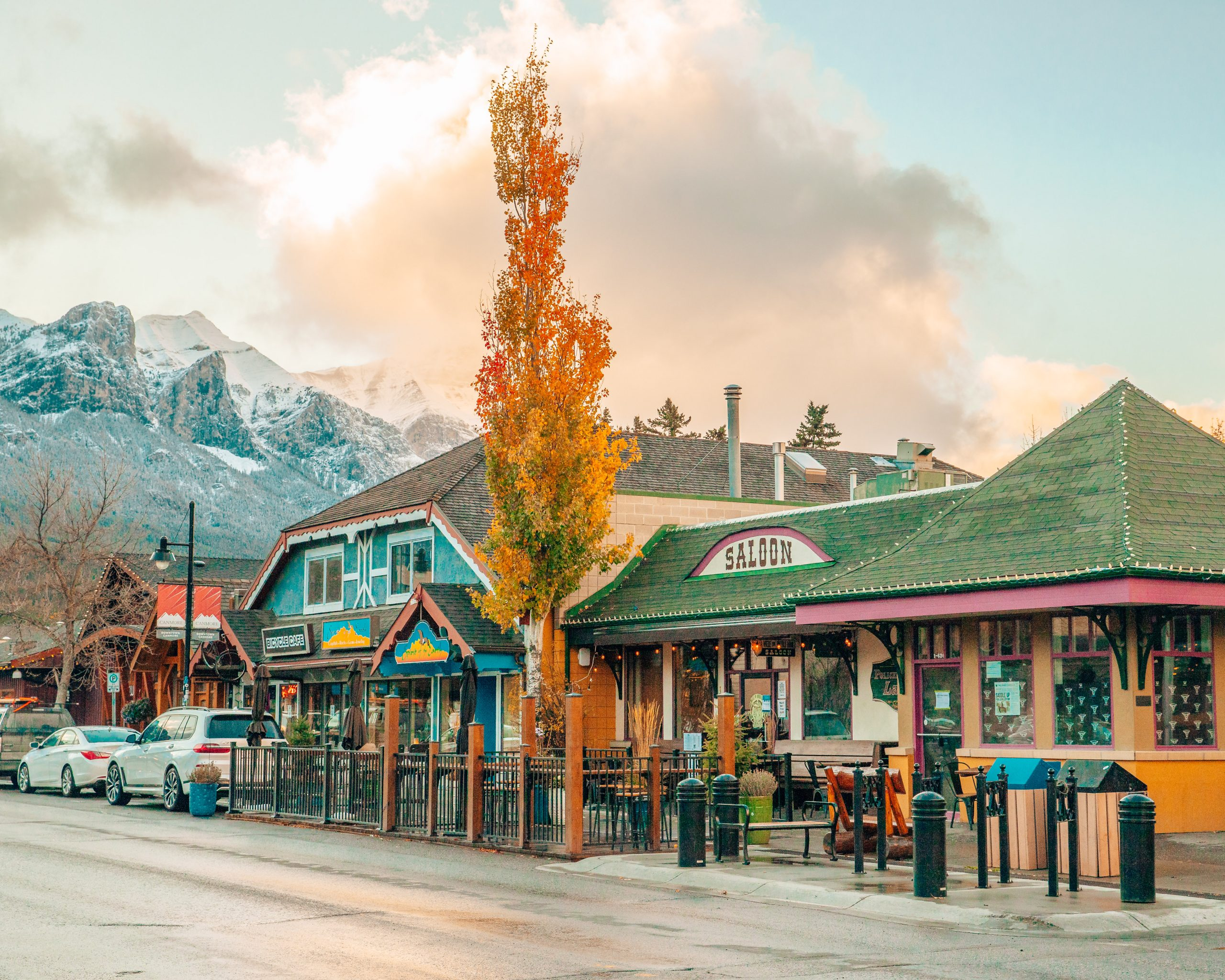 Downtown Canmore in Fall