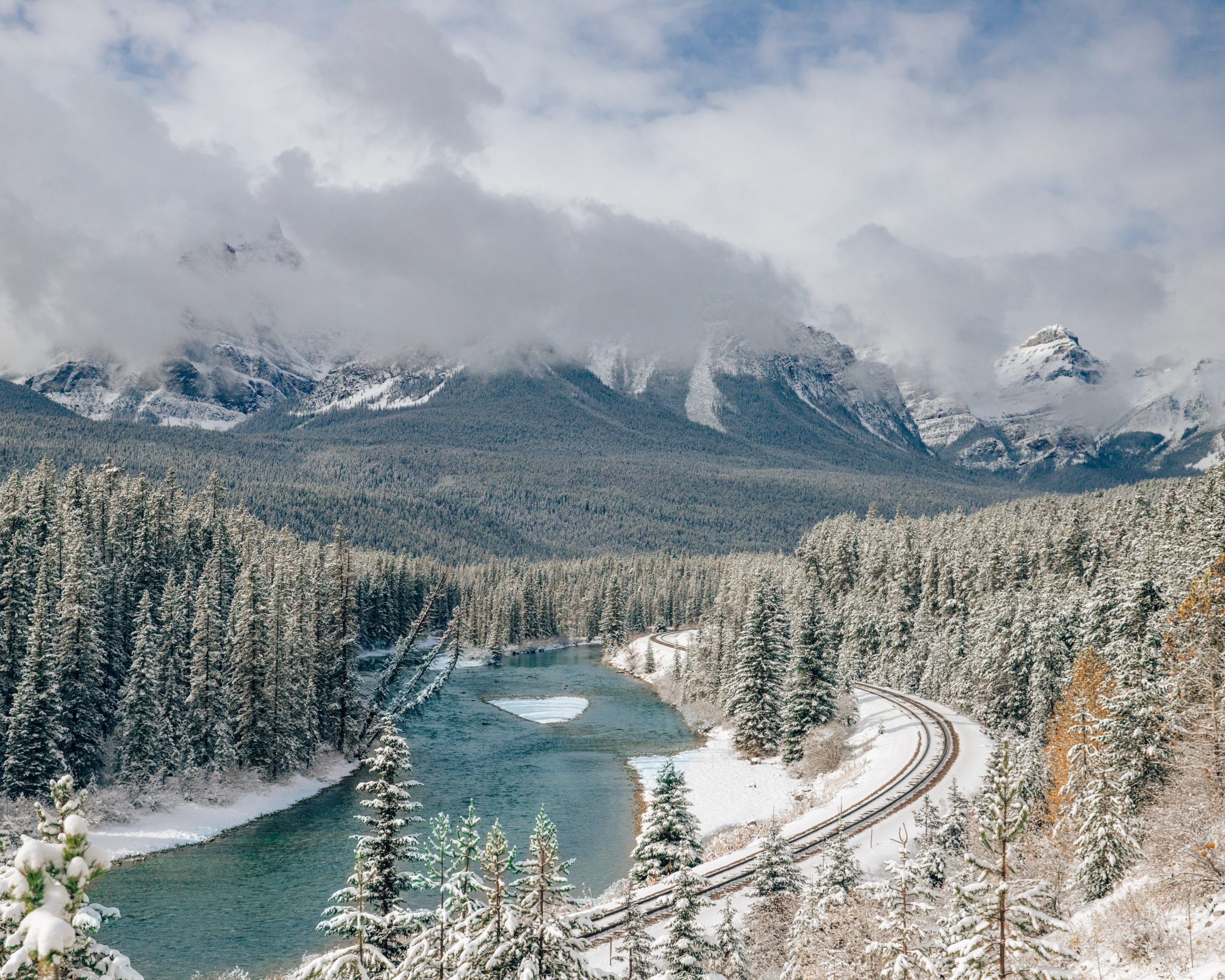 View of Morant's Curve Banff National Park
